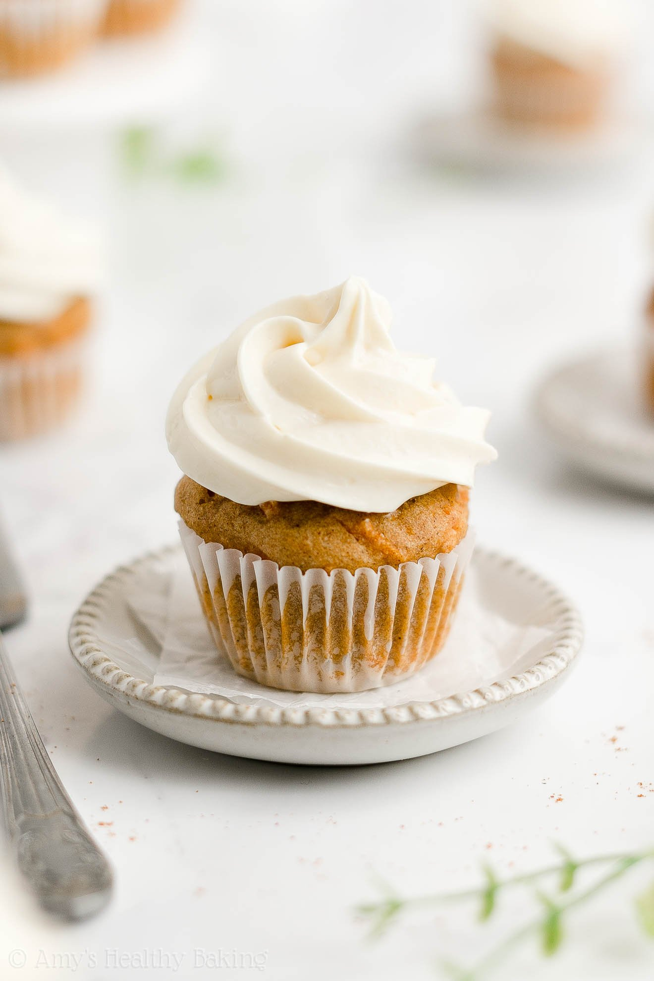 ULTIMATE Healthy Homemade Weight Watchers No Sugar Mini Carrot Cake Cupcakes