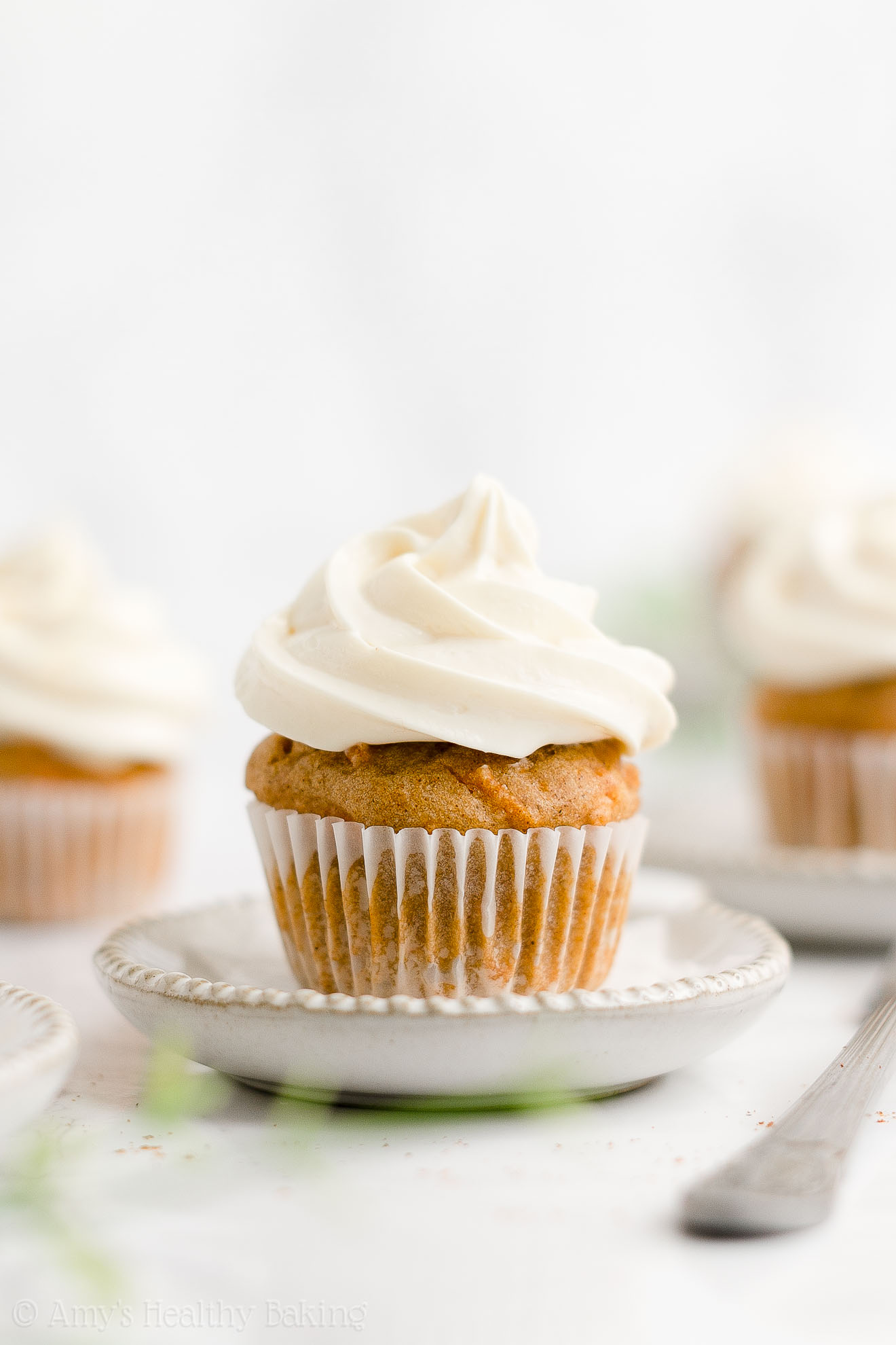 Best Easy Healthy Gluten Free Sugar Free Low Fat Moist Mini Carrot Cake Cupcakes