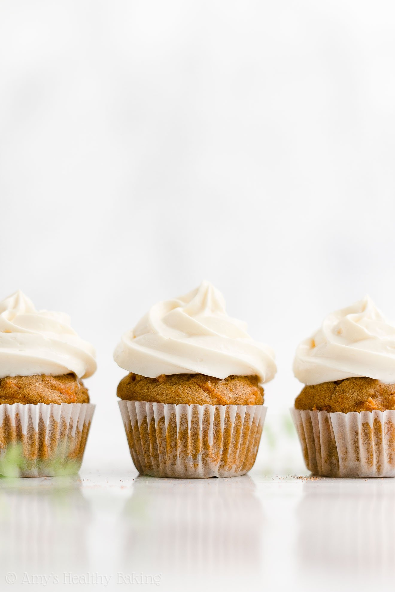 ULTIMATE Easy Healthy Whole Wheat Low Fat Moist Mini Carrot Cake Cupcakes
