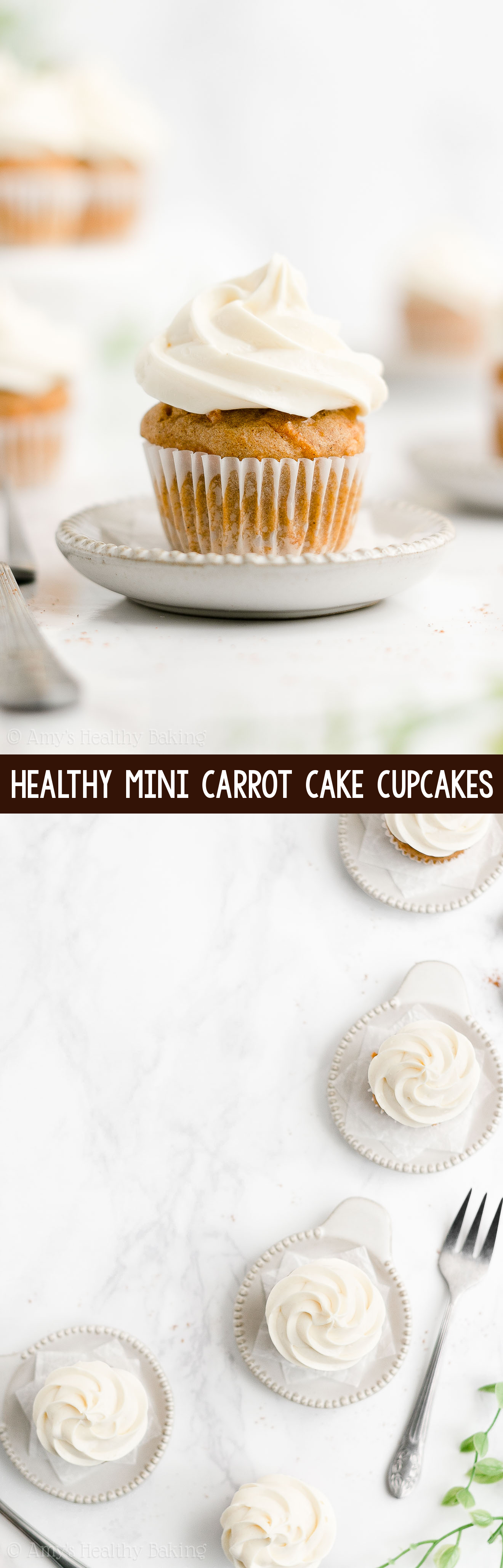 ULTIMATE Best Easy Healthy Clean Eating Moist Mini Carrot Cake Cupcakes From Scratch