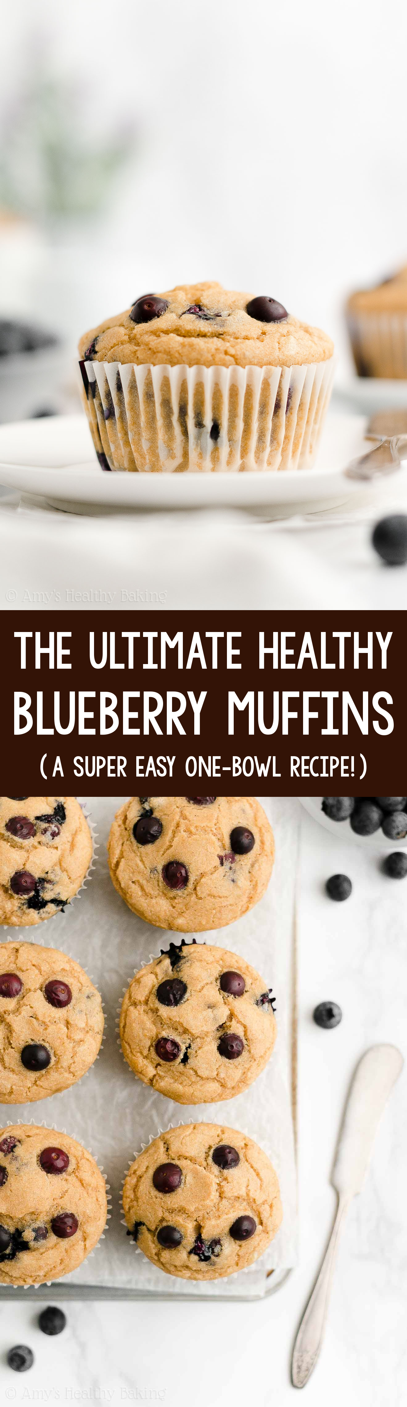 ULTIMATE Best Ever Easy Healthy Clean Eating No Sugar Moist Blueberry Muffins