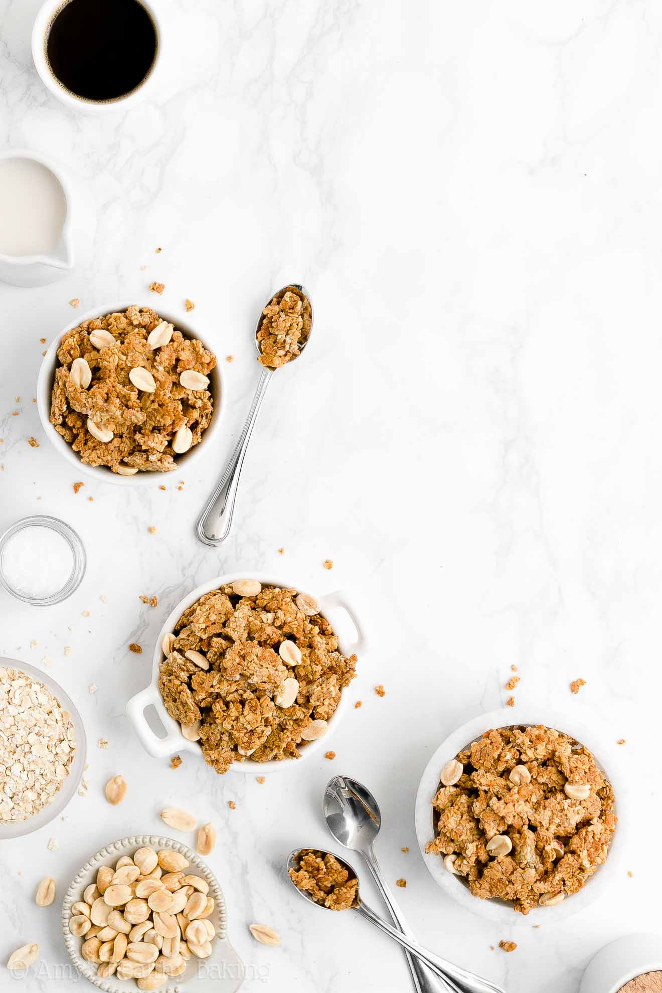 Ultimate Best Easy Healthy Low Calorie Crunchy Peanut Butter Granola No Oil