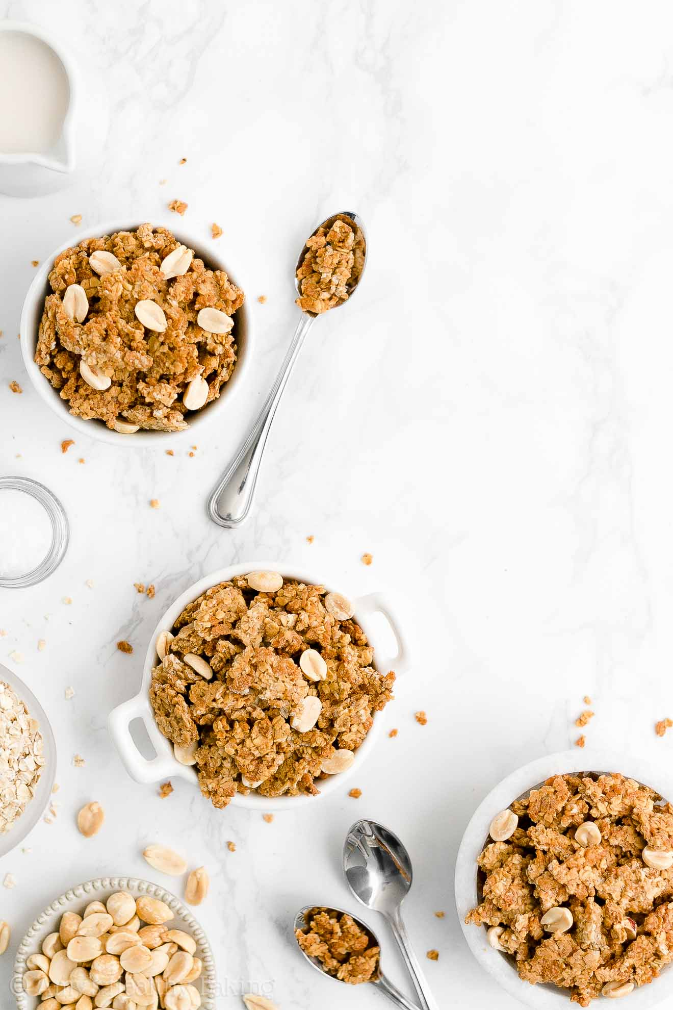 Best Easy Healthy Clean Eating Dairy Free Low Fat Crunchy Peanut Butter Granola
