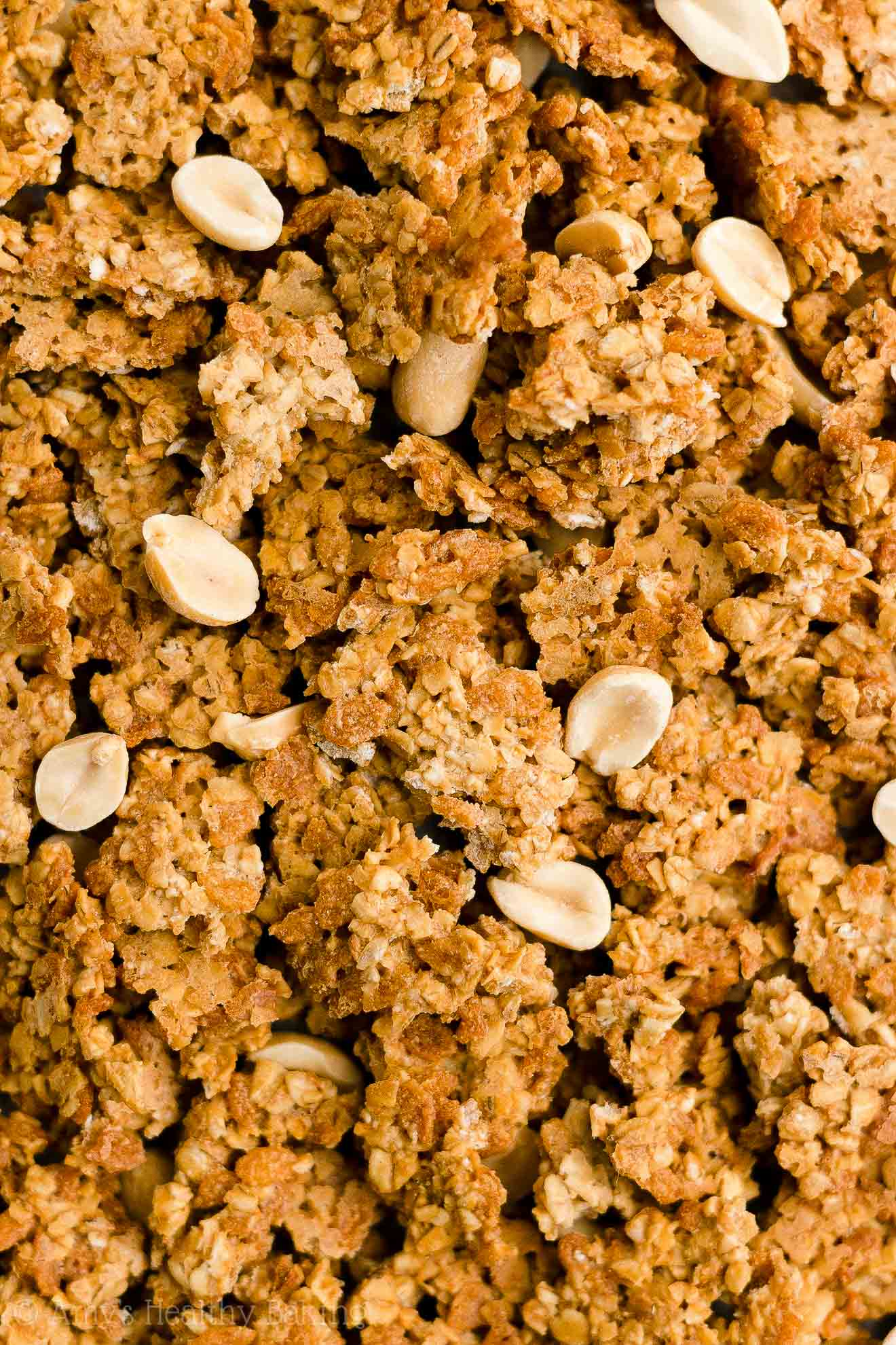 Best Easy Healthy Clean Eating Low Fat Low Sugar Peanut Butter Granola No Oil