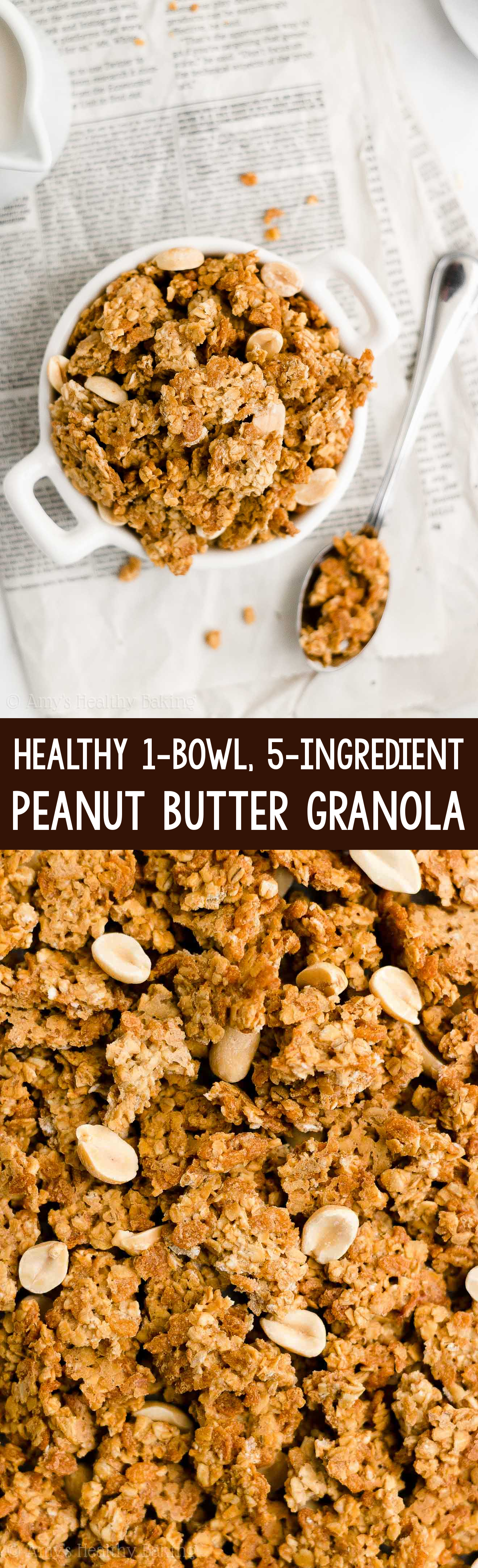 Ultimate Best Easy Healthy Homemade DIY Gluten Free Peanut Butter Granola Clusters