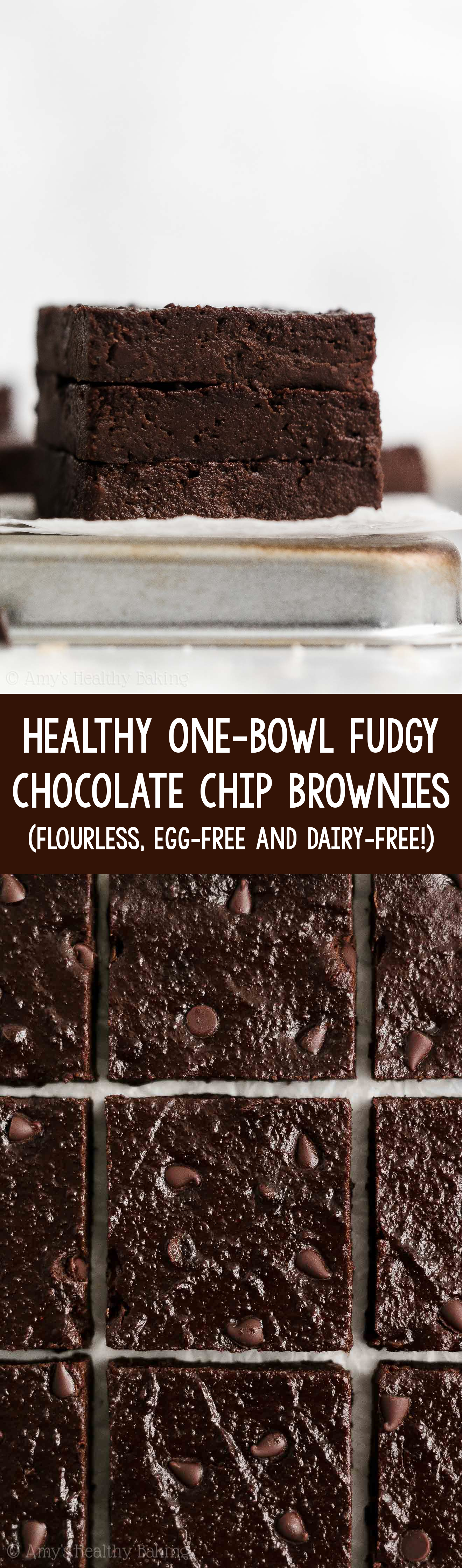 ULTIMATE Best Easy Healthy One-Bowl Fudgy Flourless Gluten Free Vegan Brownies