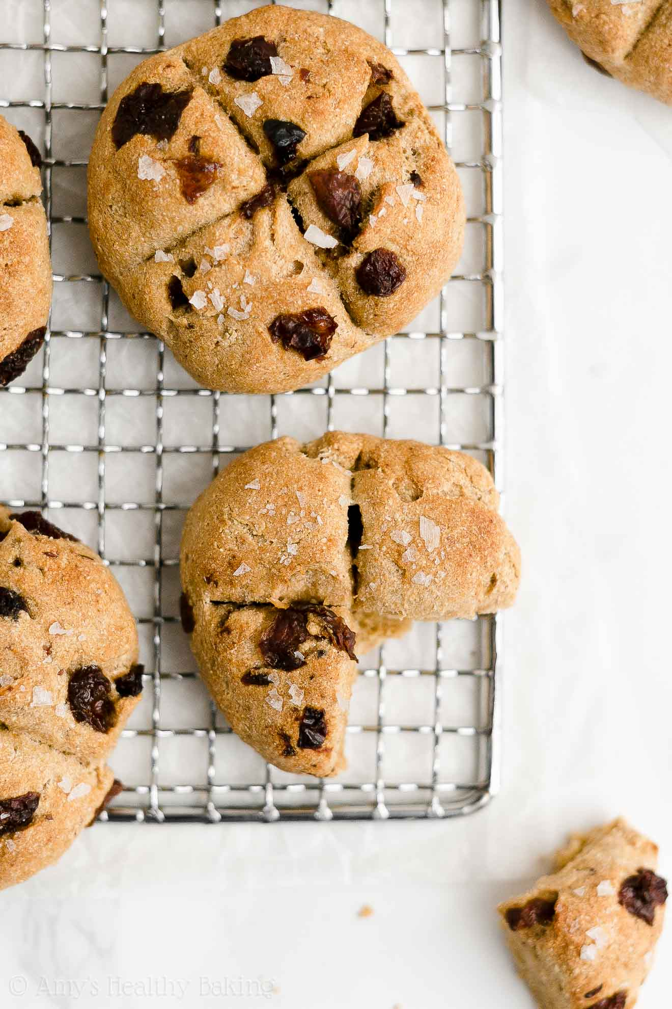 Easy Healthy Low Calorie Whole Wheat Vegan Raisin Irish Soda Bread Scones