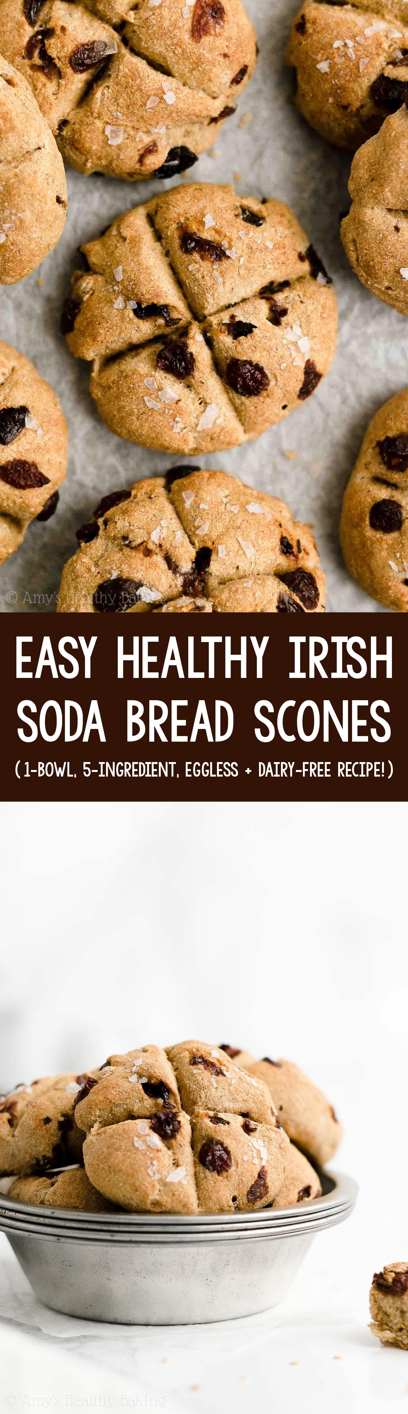 Easy Healthy Gluten Free Vegan Moist Raisin Irish Soda Bread Scones Without Buttermilk