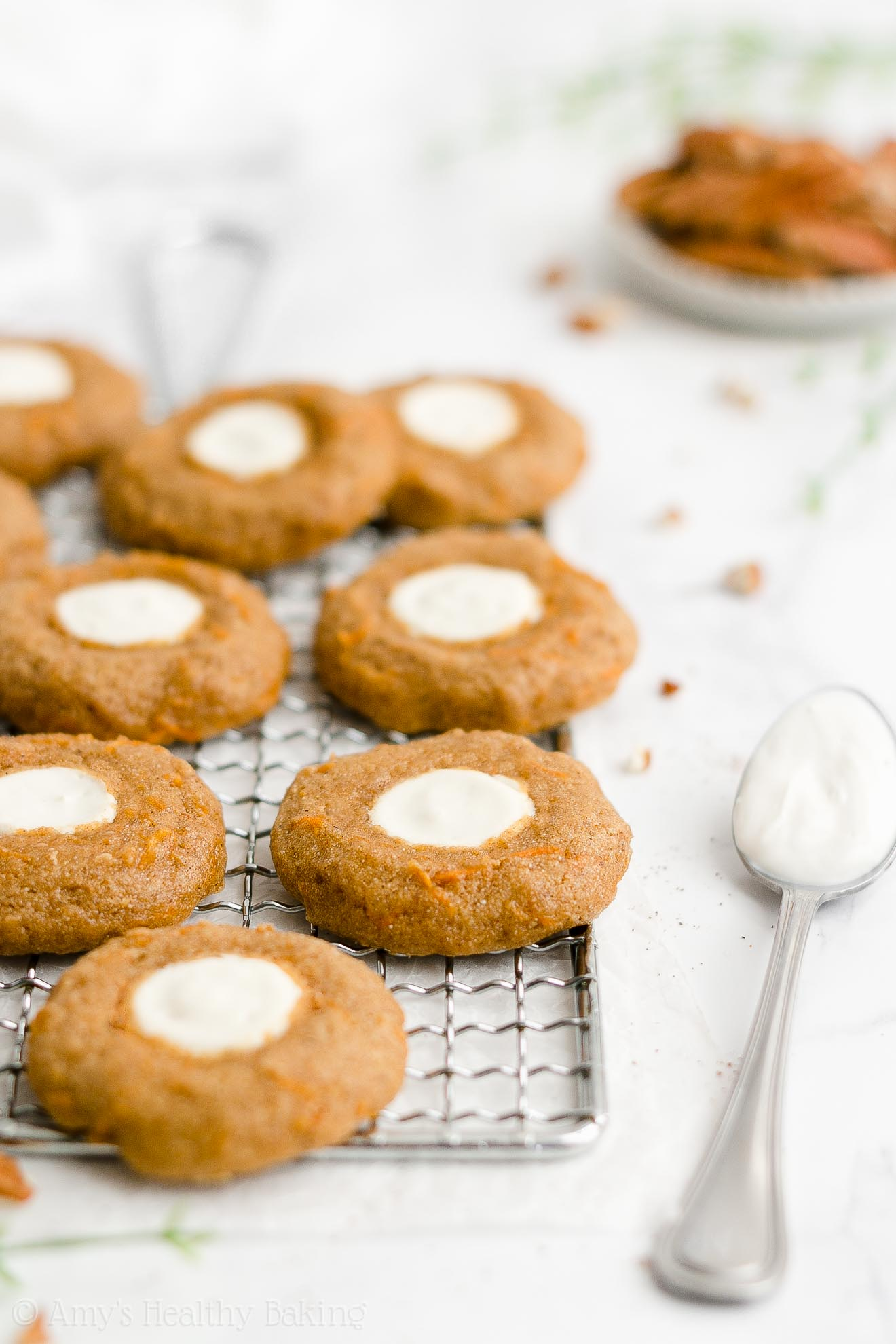 Best Healthy Weight Watchers Low Calorie Soft Carrot Cake Thumbprint Cookies