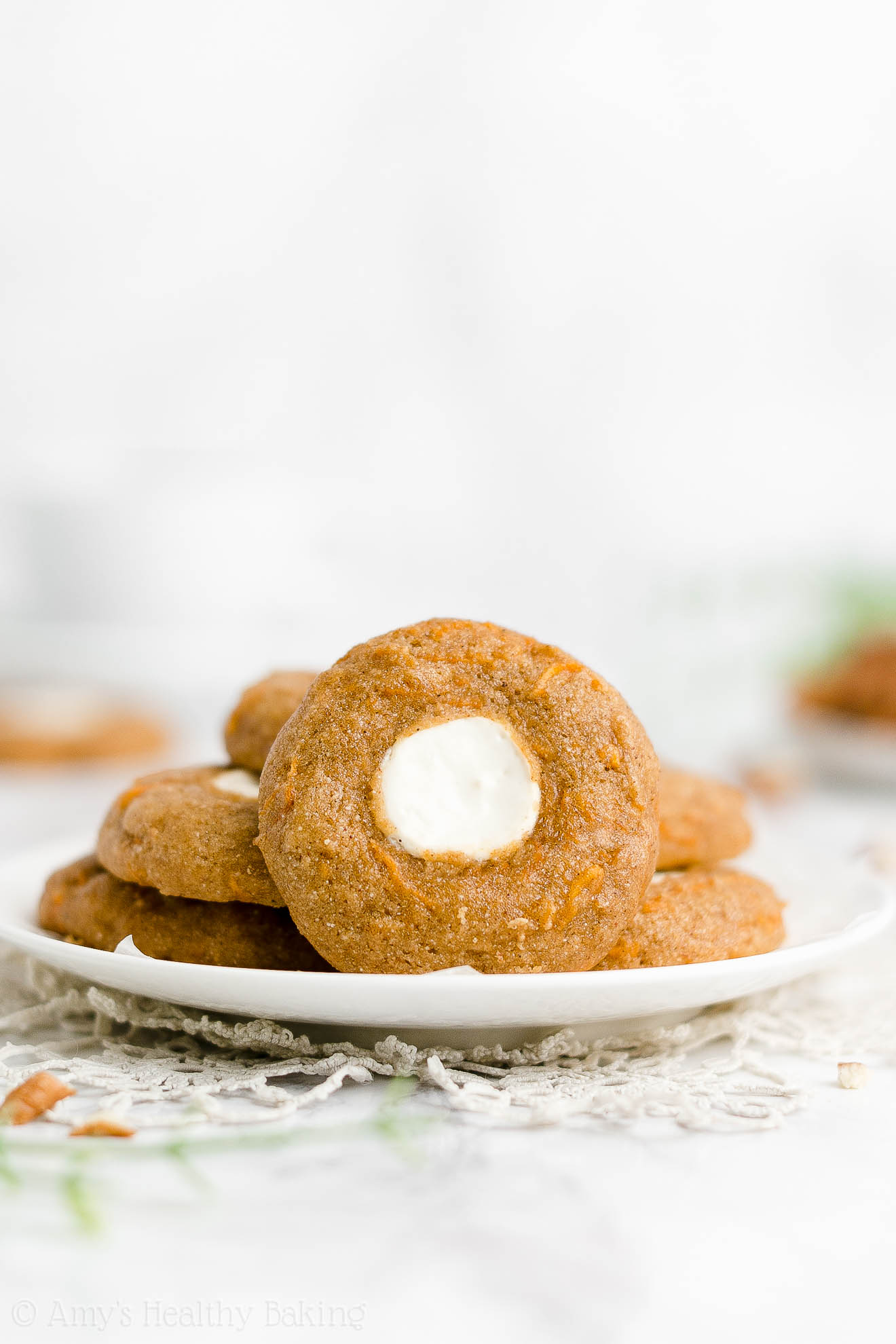 Best Healthy Gluten Free Low Calorie Soft Cream Cheese Carrot Cake Cookies