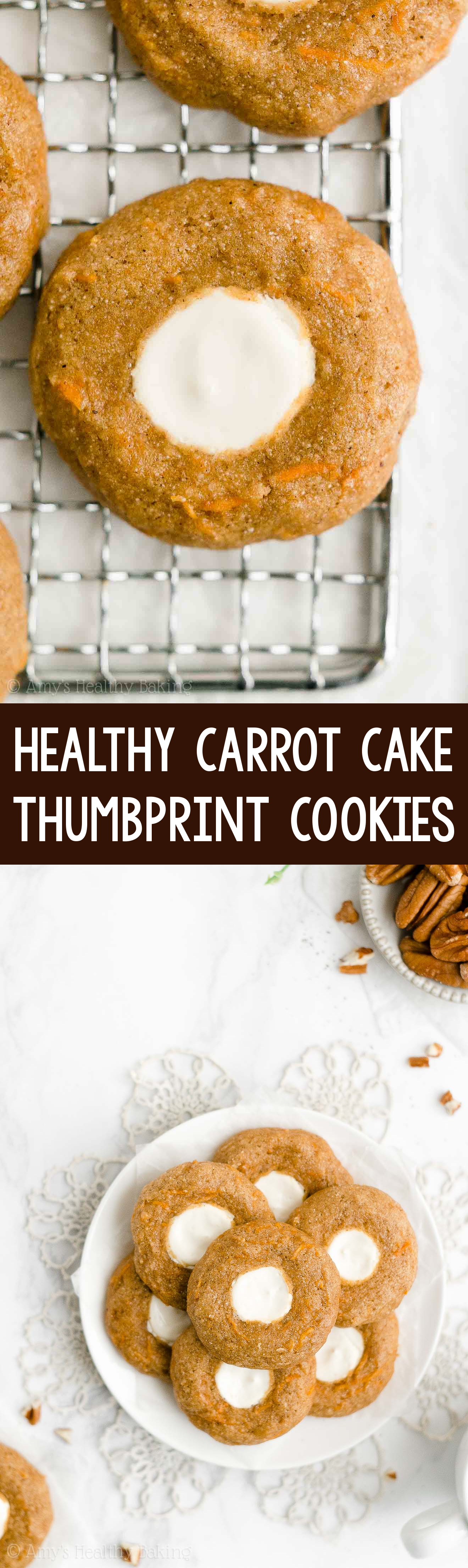 Best Easy Healthy Homemade Carrot Cake Cookies with Cream Cheese Frosting Filling