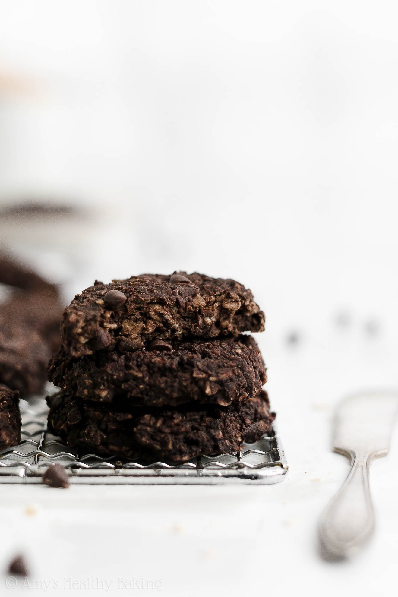 Best Healthy Gluten Free Vegan Flourless Double Chocolate Oatmeal Breakfast Cookies