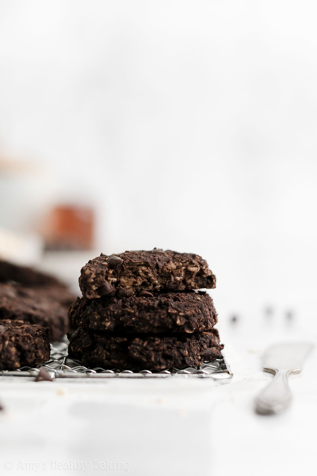 Best Easy Healthy Vegan Chewy Flourless Chocolate Oatmeal Breakfast Cookies