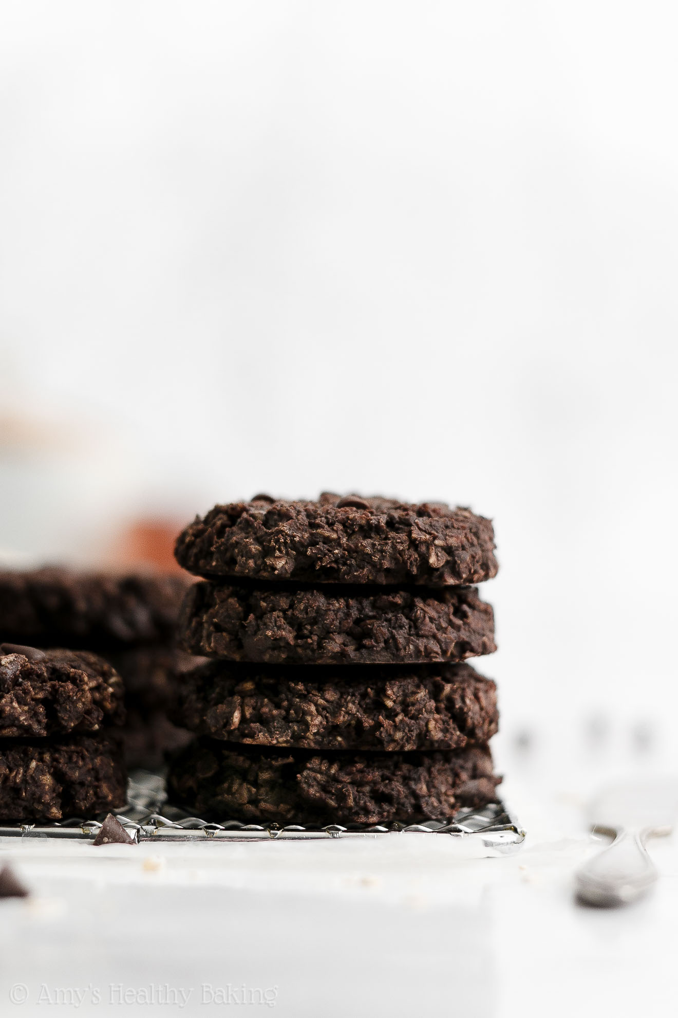 Best Easy Healthy Low Calorie Eggless Flourless Chocolate Oatmeal Breakfast Cookies