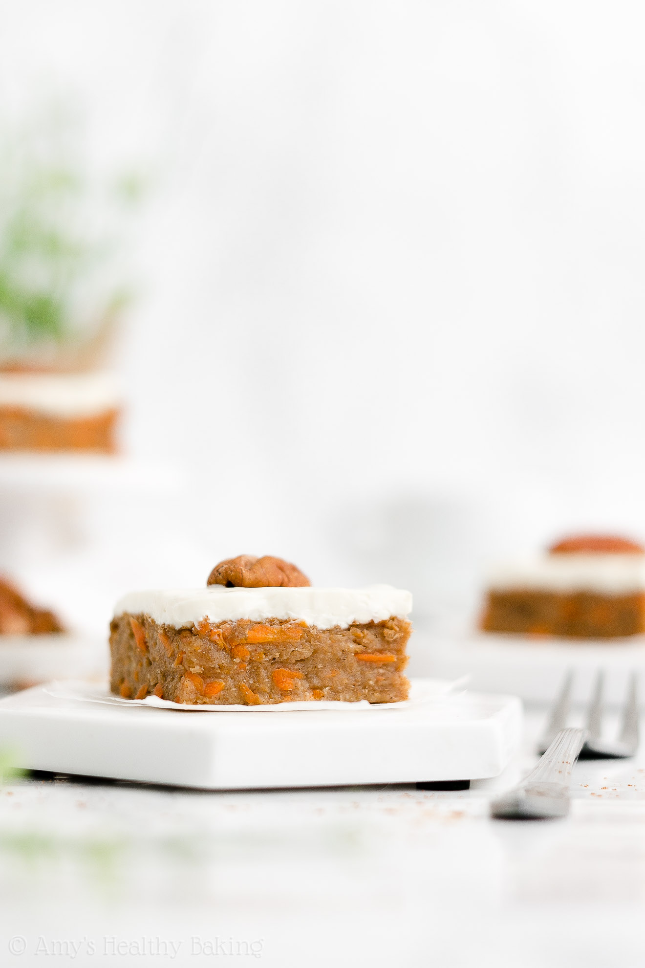 Easy Healthy Homemade Gluten Free Low Sugar Moist Chewy Carrot Cake Bars