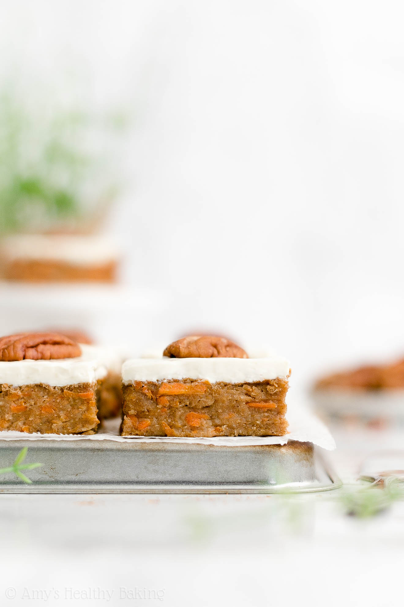 Best Healthy Gluten Free No Sugar Carrot Cake Bars with Cream Cheese Frosting