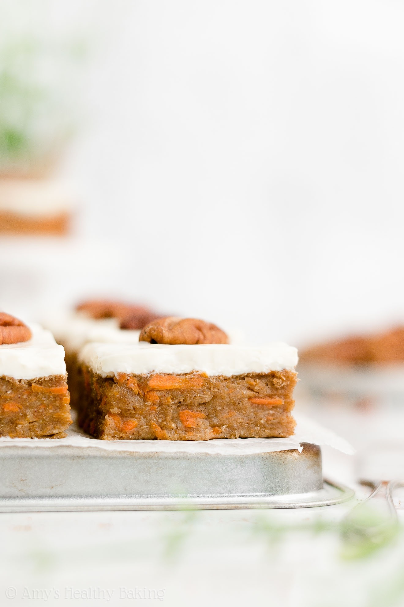 Easy Healthy Homemade Gluten Free No Sugar Moist Chewy Carrot Cake Bars