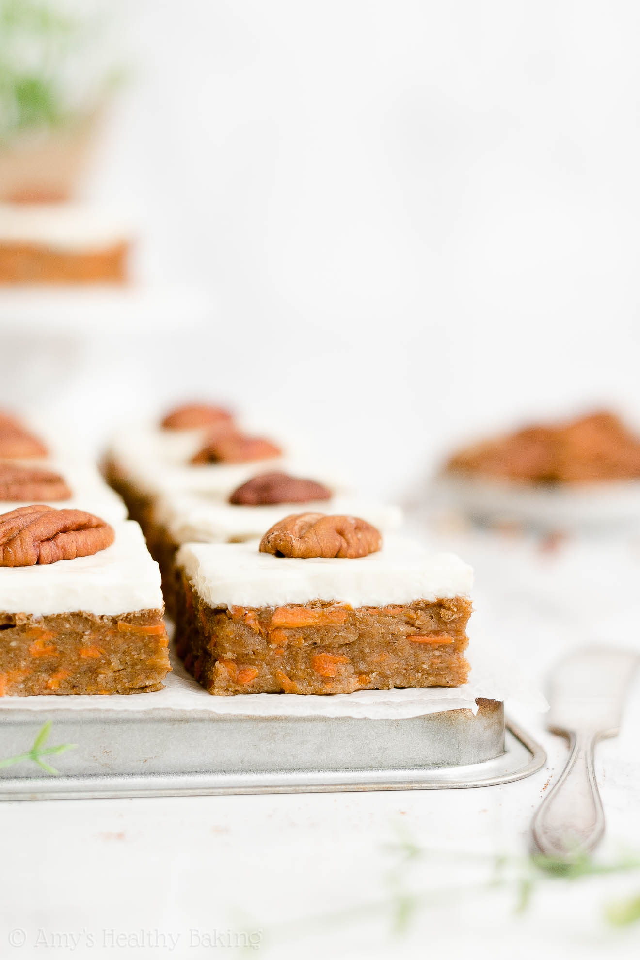 Easy Healthy Whole Wheat Weight Watchers Low Sugar Chewy Carrot Cake Bars