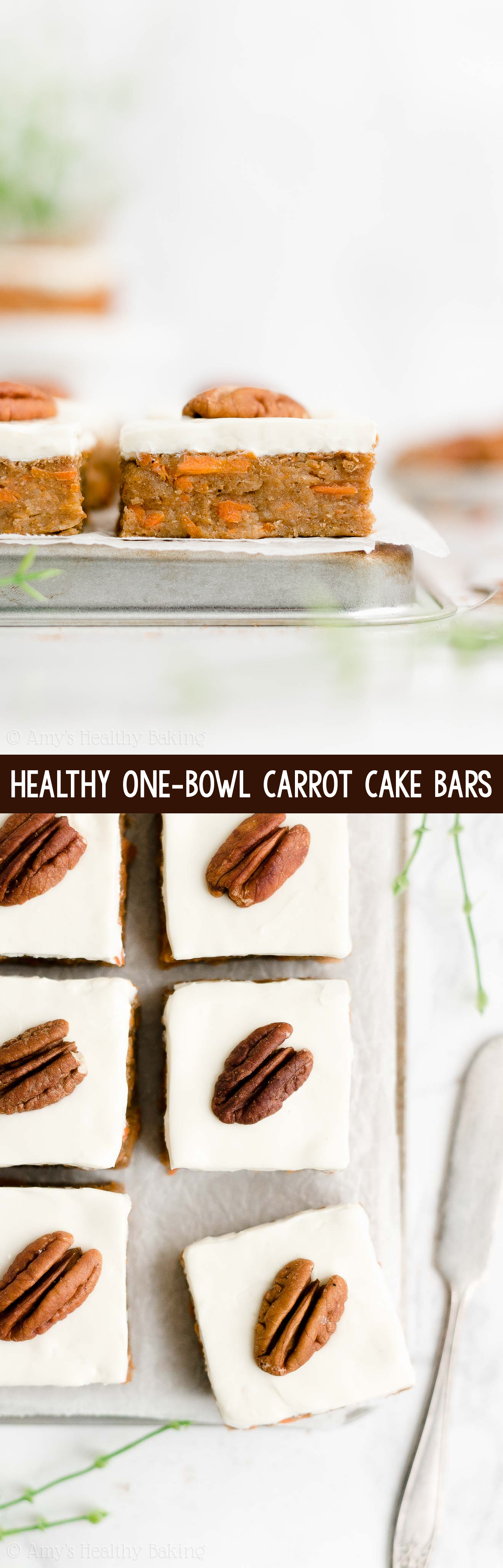 Best Easy Healthy Low Calorie Sugar Free Carrot Cake Bars with Cream Cheese Frosting