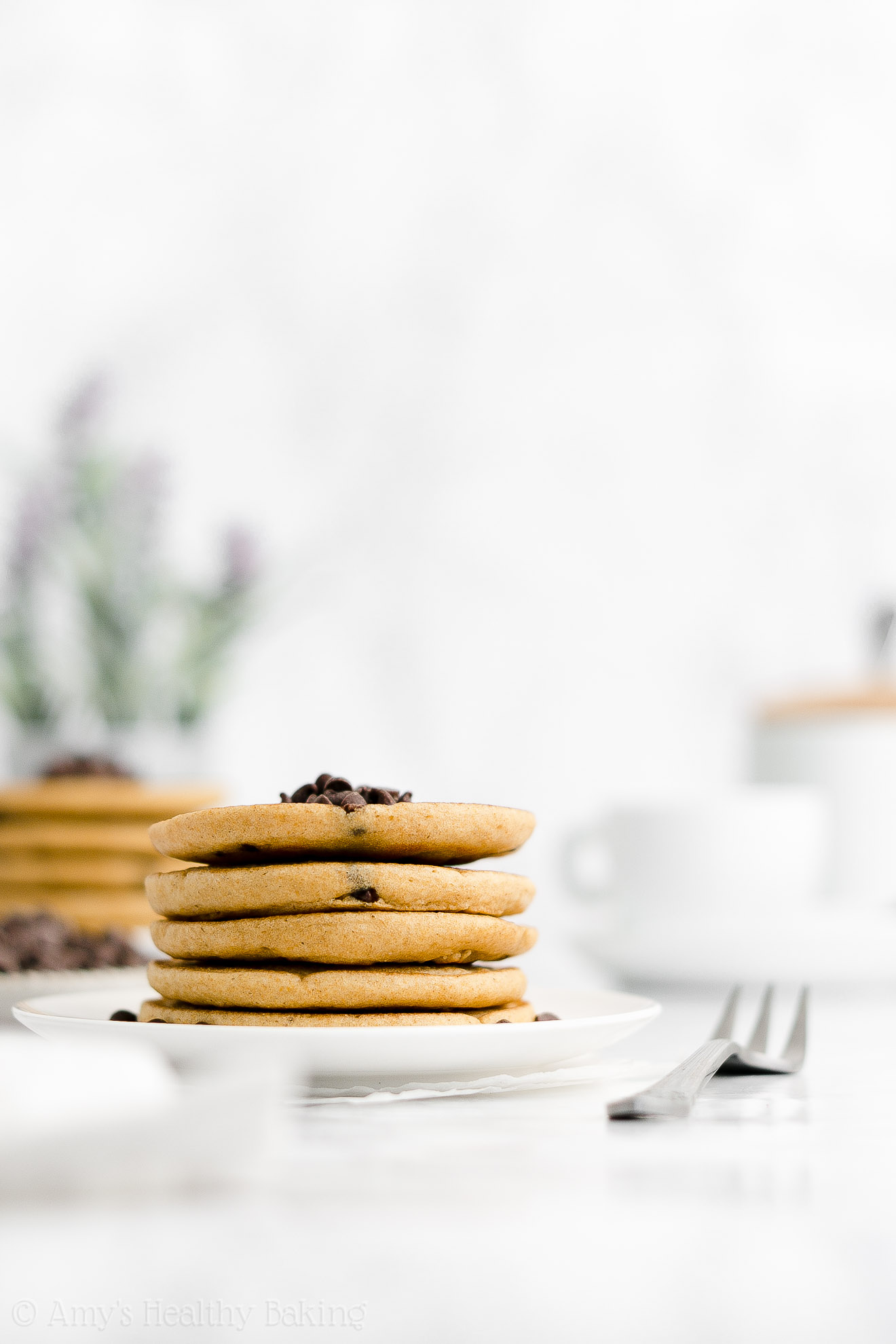 ULTIMATE Best Easy Healthy Weight Watchers Fluffy Chocolate Chip Pancakes