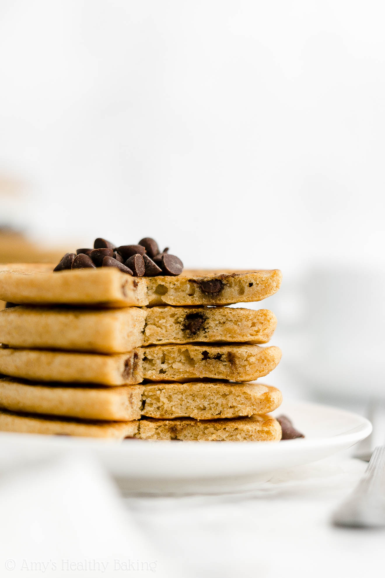 Best Easy Healthy Whole Wheat Greek Yogurt Fluffy Chocolate Chip Pancakes