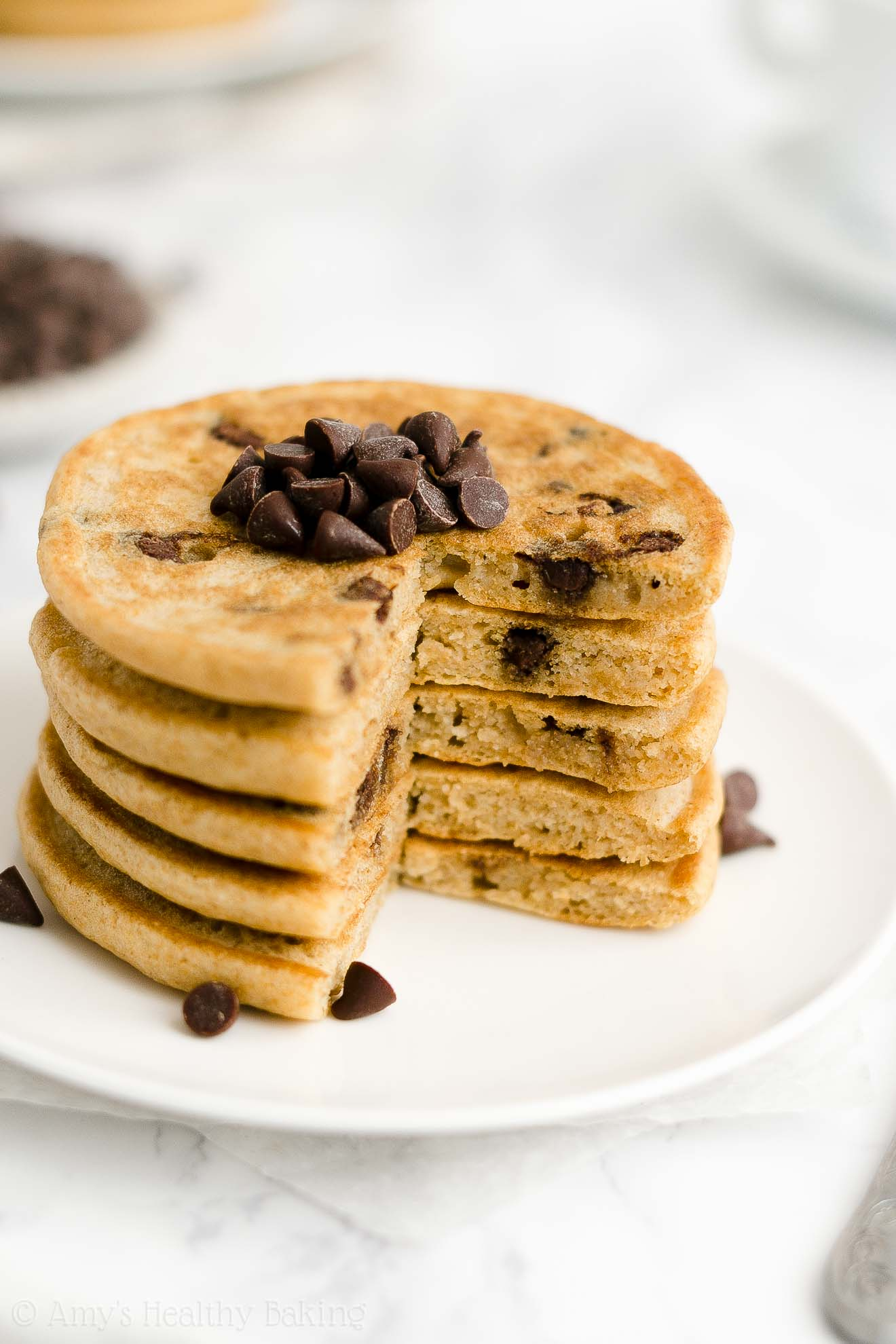 Best Ever Easy Healthy Small Batch Chocolate Chip Pancakes Without Buttermilk