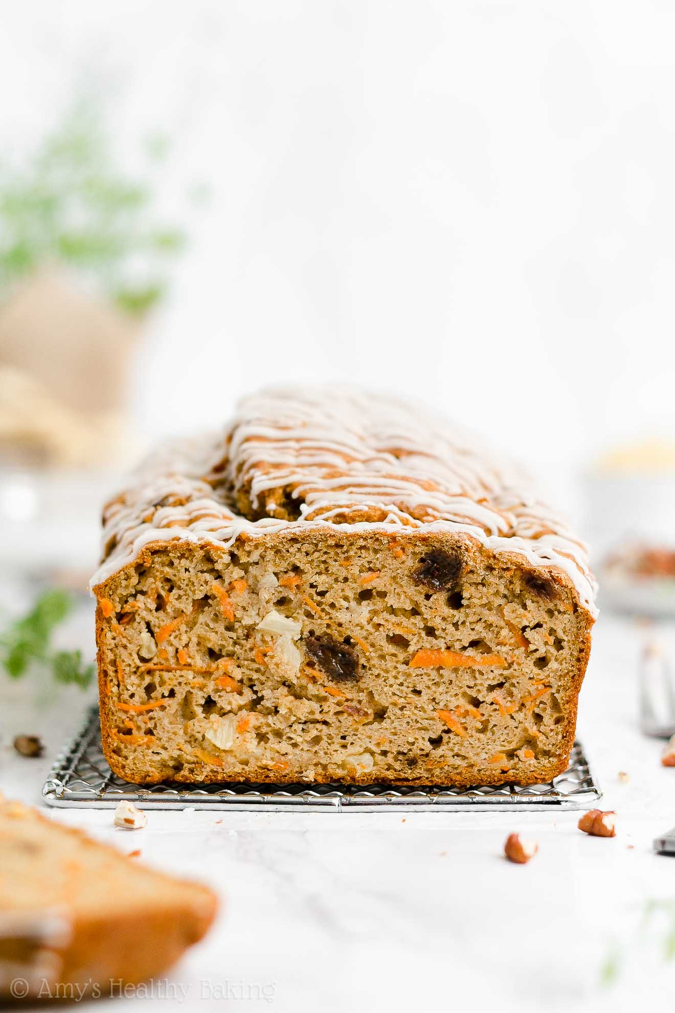 Best Easy Healthy Gluten Free Low Sugar Moist Pineapple Raisin Carrot Pound Cake