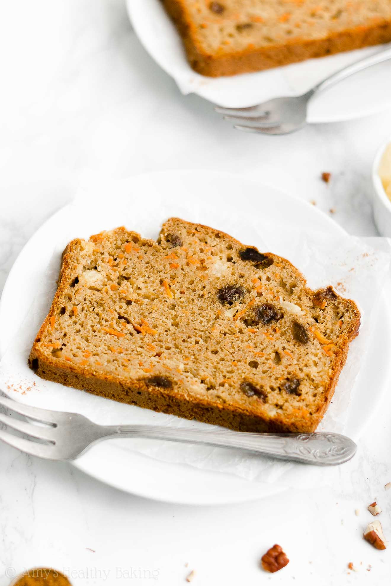 Best Easy Healthy Low Calorie Super Moist Pineapple Raisin Carrot Pound Cake
