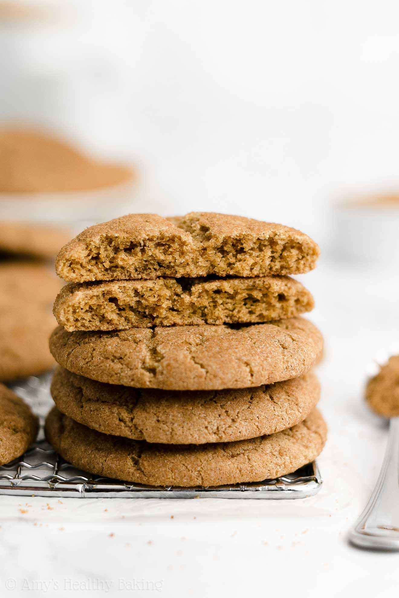 ULTIMATE Best Easy Healthy Whole Wheat Low Fat Classic Chewy Snickerdoodles
