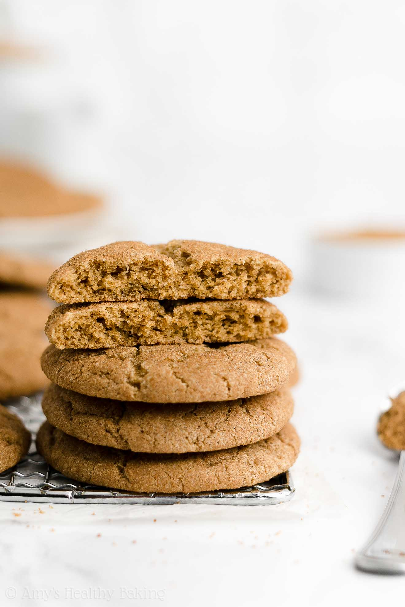 ULTIMATE Best Easy Healthy Whole Wheat Low Fat Soft Chewy Snickerdoodles