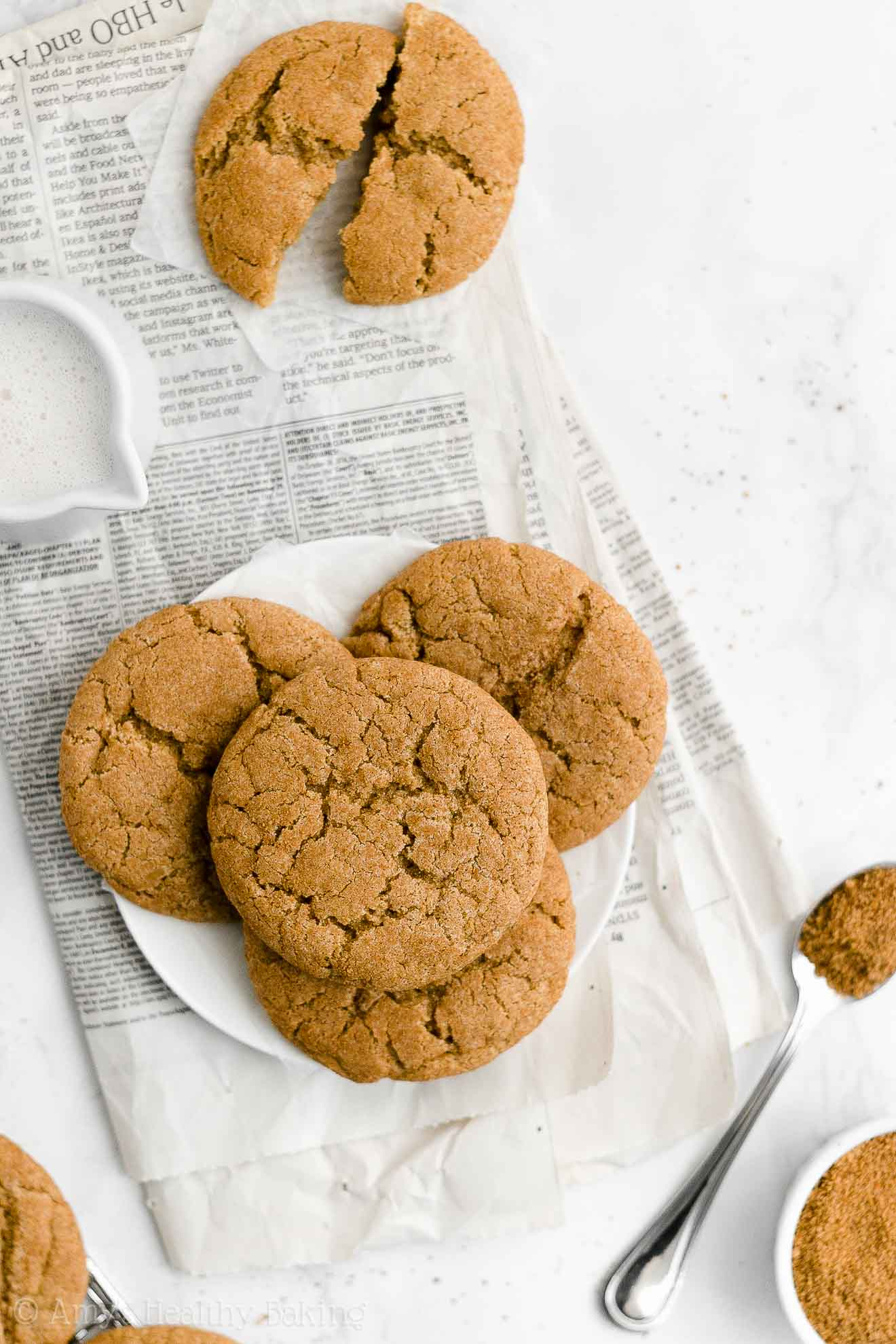ULTIMATE Best Easy Healthy Gluten Free Vegan Eggless Chewy Snickerdoodles