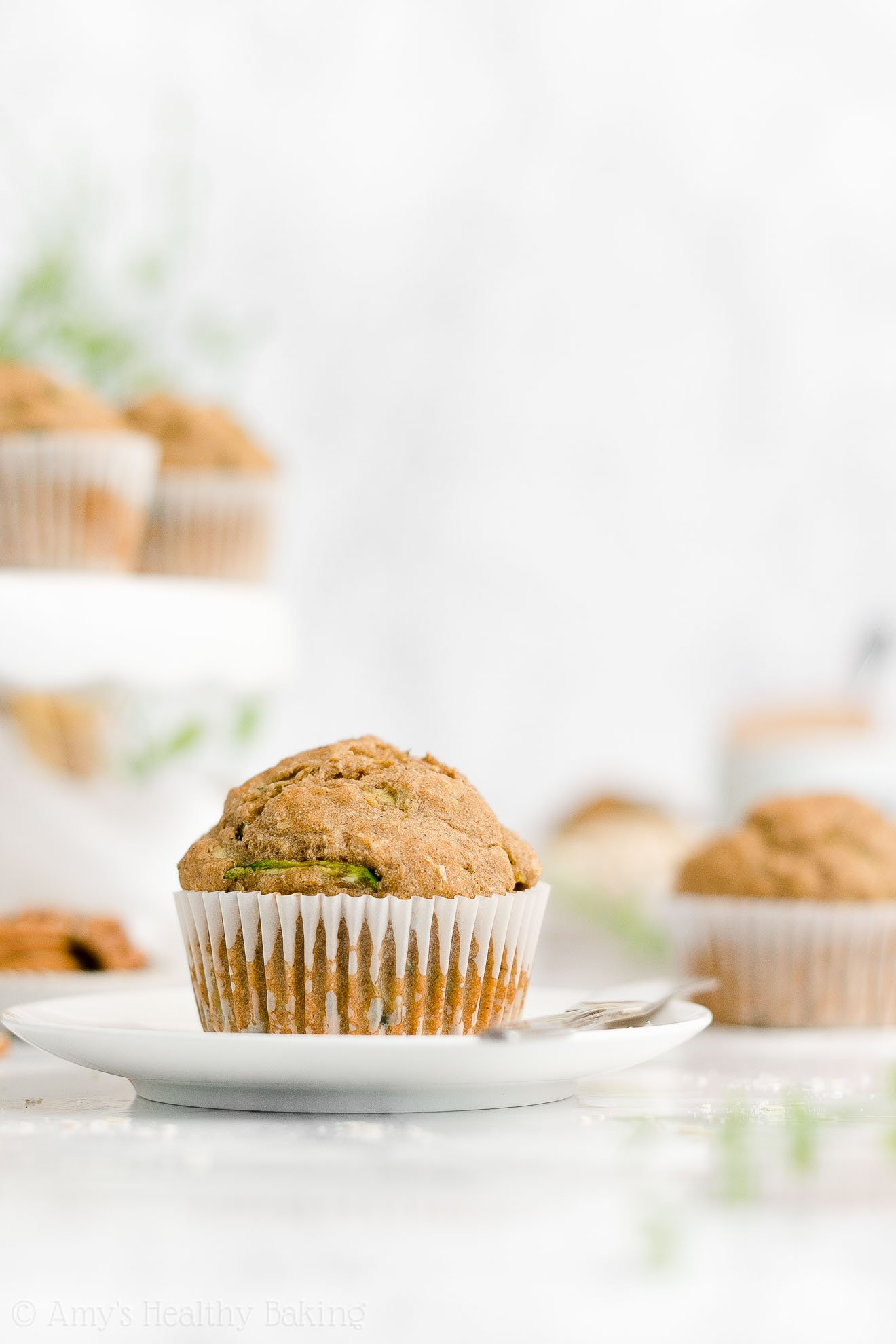 Best Easy Healthy Low Calorie Gluten Free Moist Zucchini Oatmeal Muffins