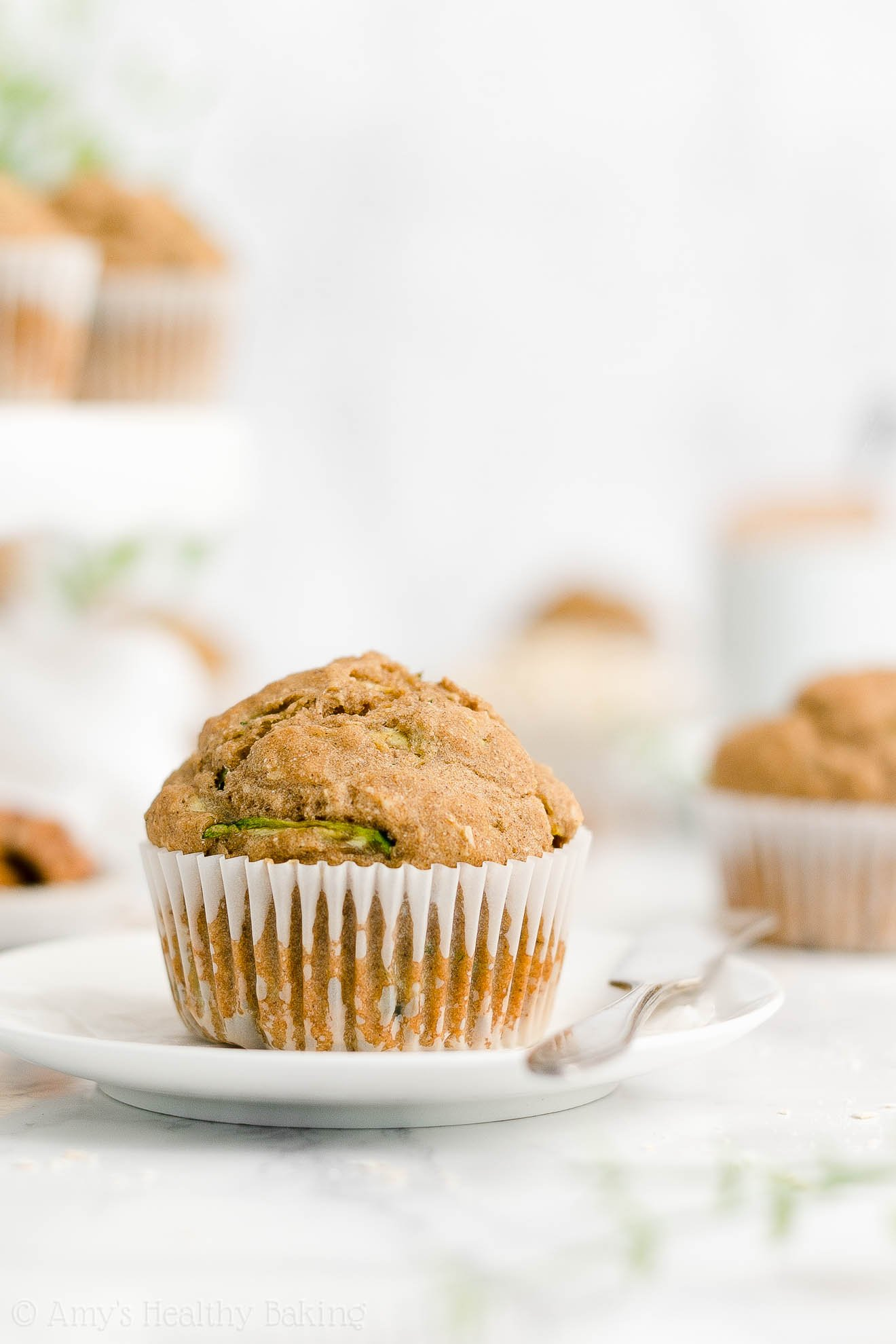 Best Easy Healthy Gluten Free Low Sugar Moist Yogurt Zucchini Oatmeal Muffins