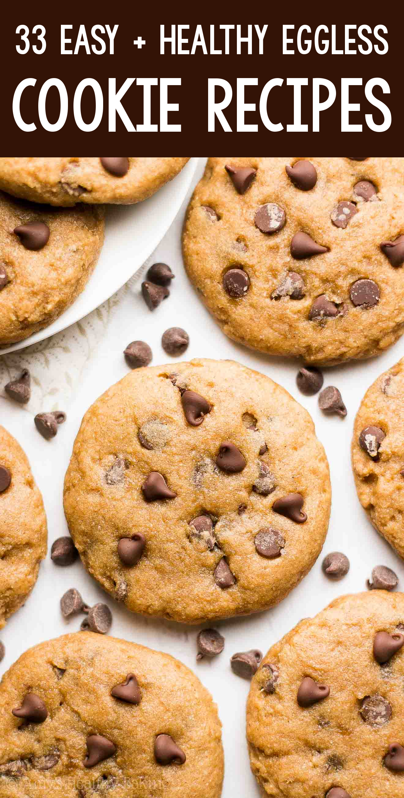 the BEST EVER healthy dairy-free eggless vegan banana chocolate chip cookies