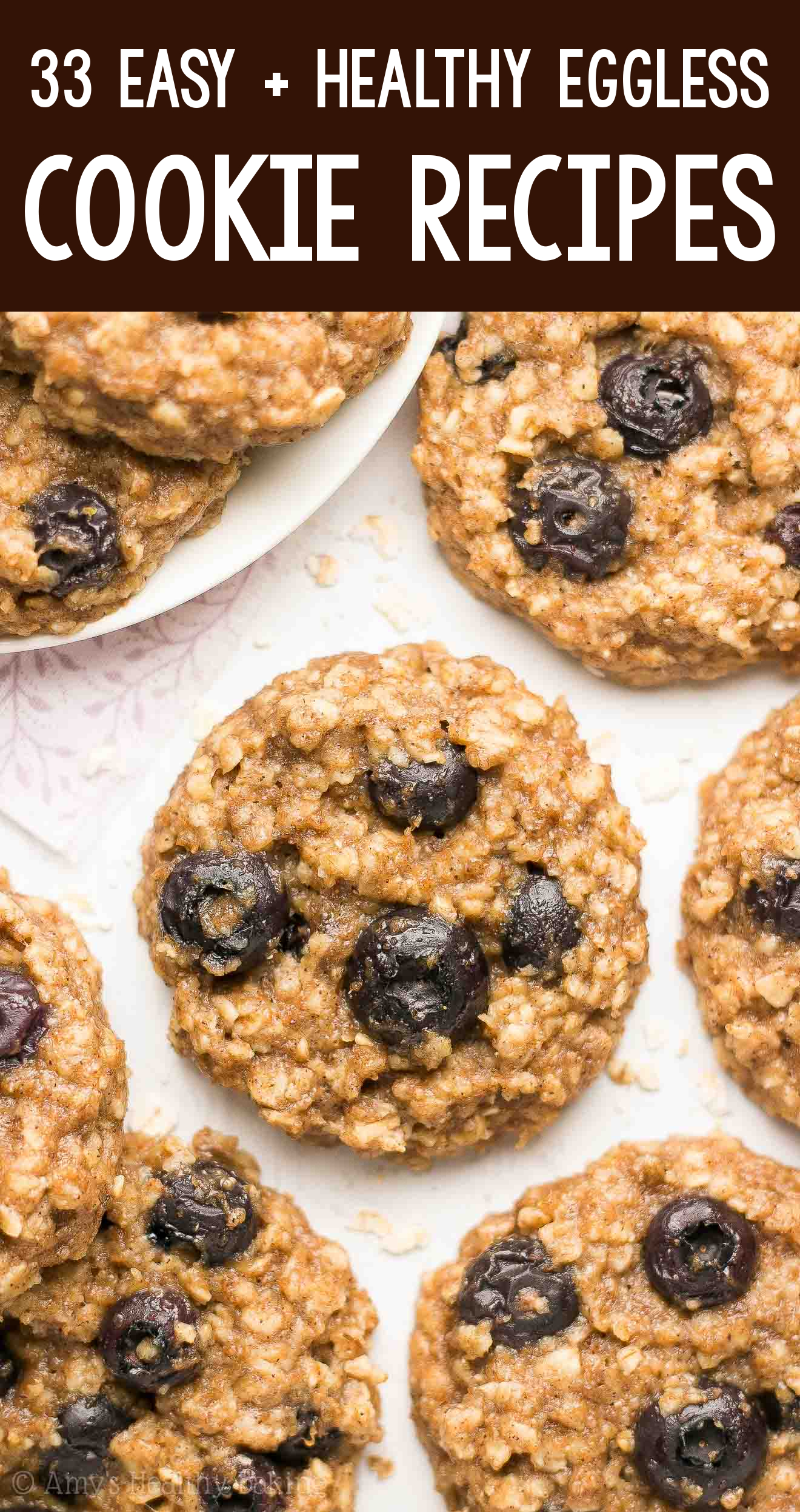 the BEST EVER healthy dairy-free eggless vegan blueberry banana oatmeal cookies