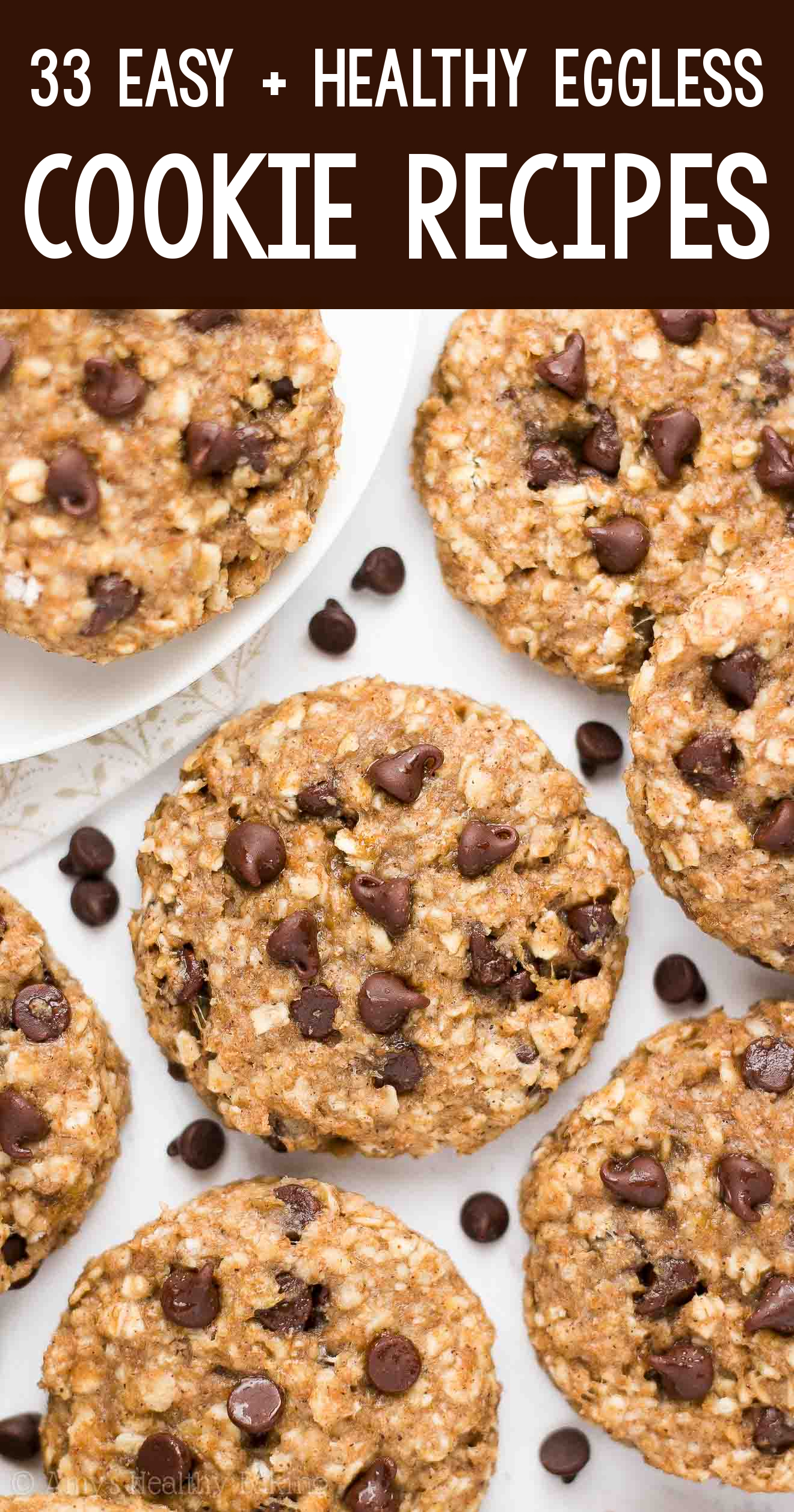 the BEST EVER healthy dairy-free eggless vegan banana chocolate chip oatmeal breakfast cookies