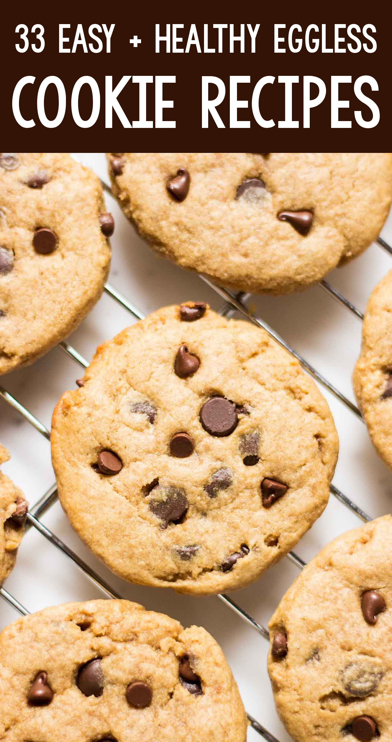 the BEST EVER healthy dairy-free eggless vegan chocolate chip peanut butter banana cookies