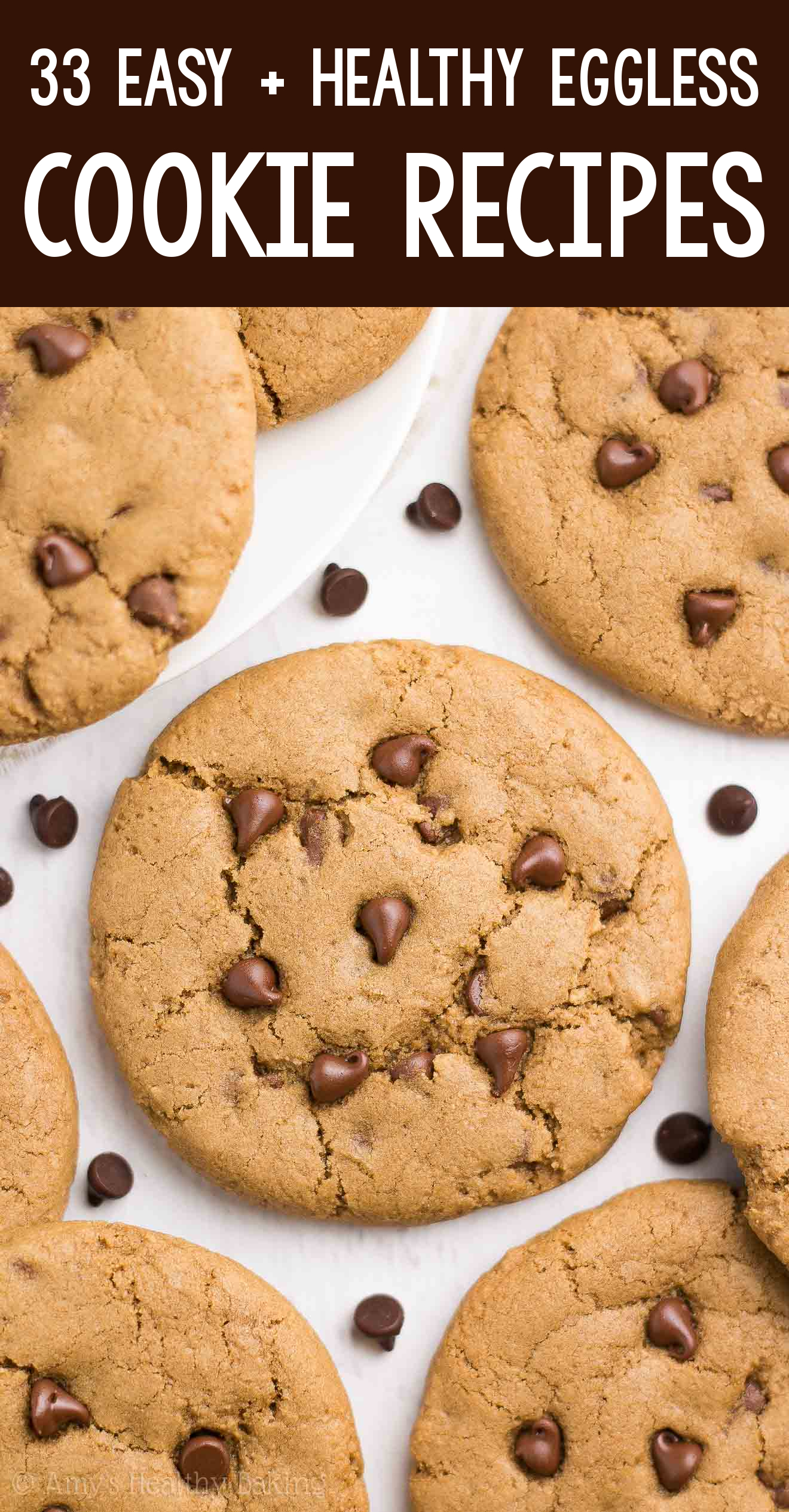 the BEST EVER healthy dairy-free eggless vegan coffee chocolate chip cookies