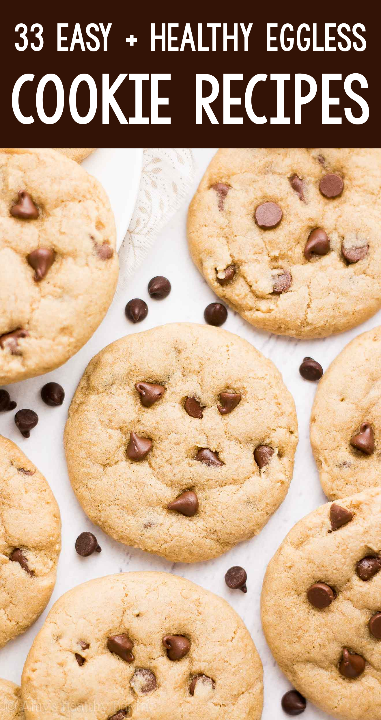 the BEST EVER healthy soft chewy dairy-free eggless vegan chocolate chip cookies cookies