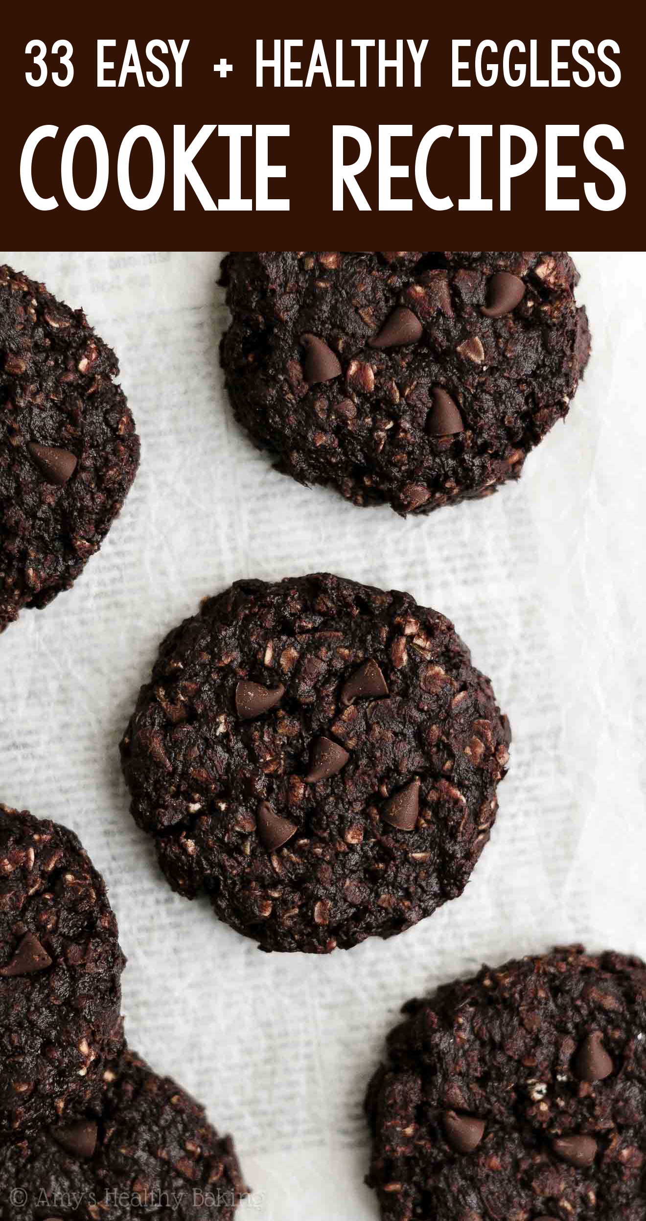 the BEST EVER healthy dairy-free eggless vegan double chocolate oatmeal cookies