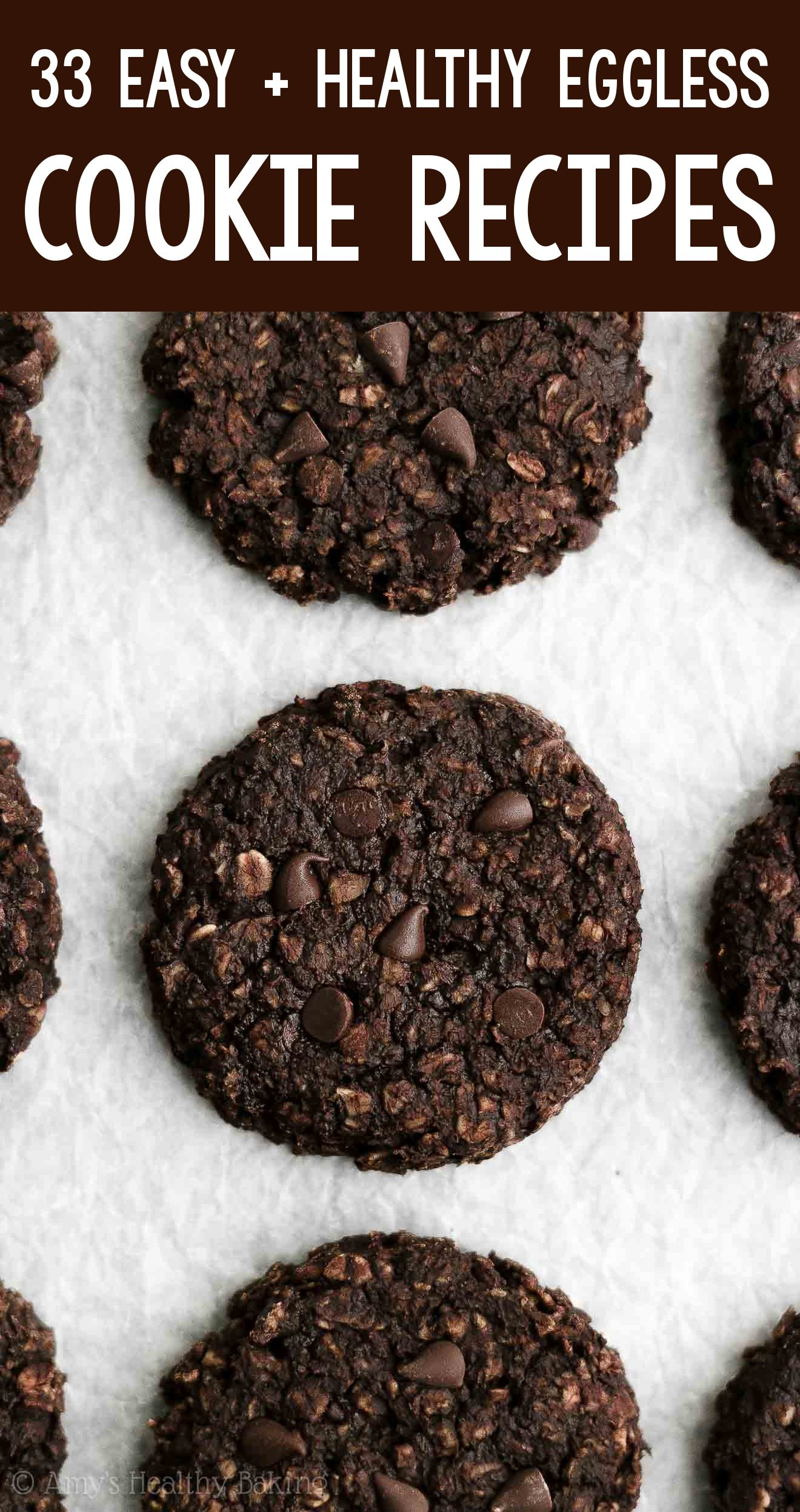the BEST EVER healthy dairy-free eggless vegan double chocolate oatmeal breakfast cookies