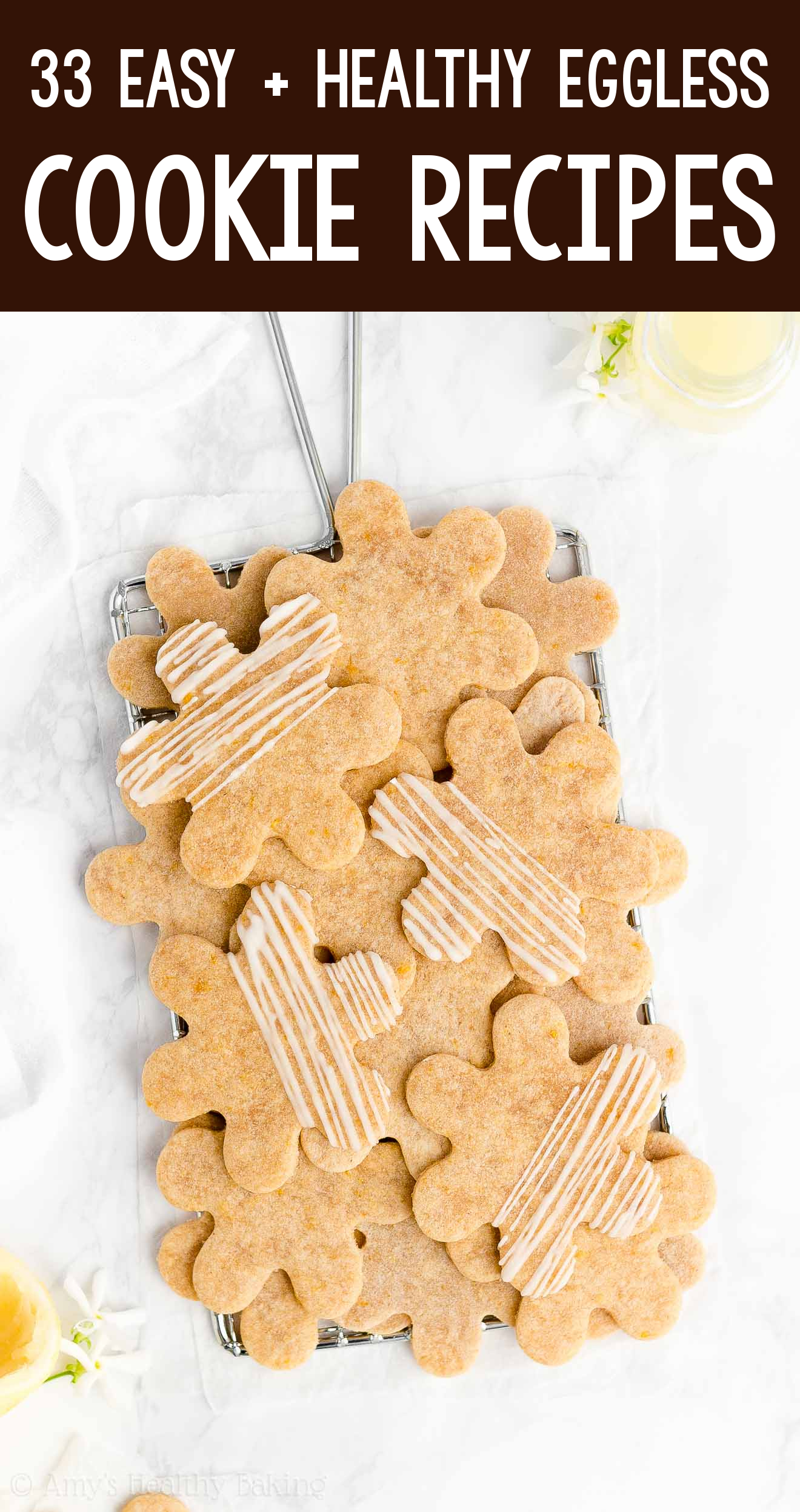 the BEST EVER healthy dairy-free eggless vegan soft cut-out lemon sugar cookies