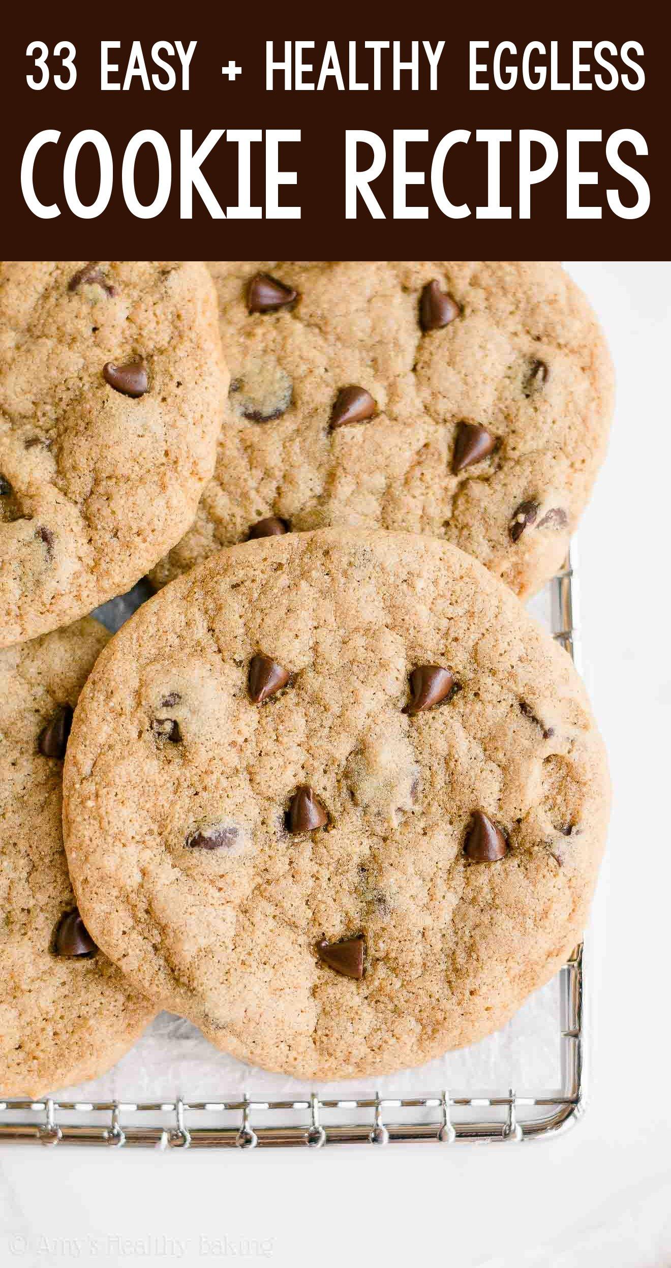 the BEST EVER healthy eggless dairy-free vegan chocolate chip cookies cookies
