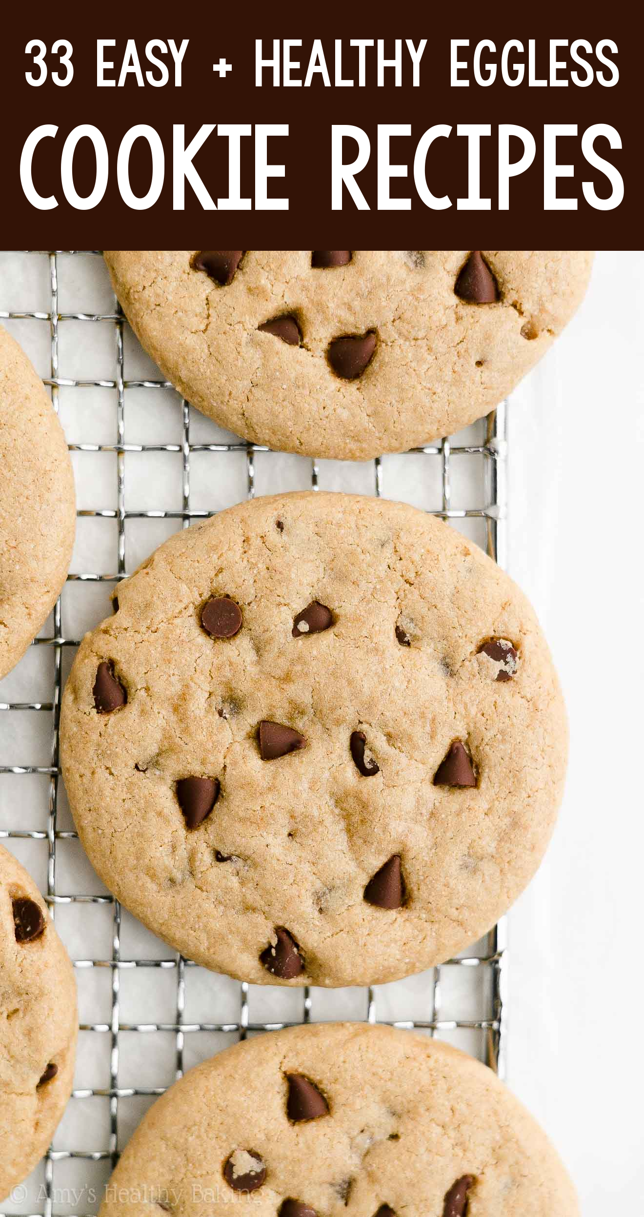 the BEST EVER healthy dairy-free eggless vegan chocolate chip peanut butter cookies