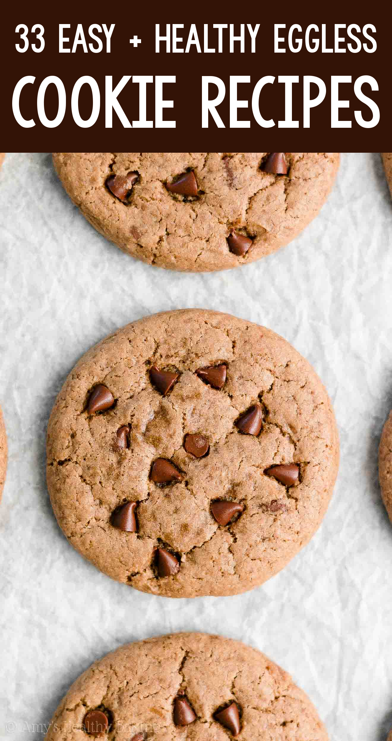 the BEST EVER healthy flourless dairy-free eggless vegan nutella chocolate chip cookies