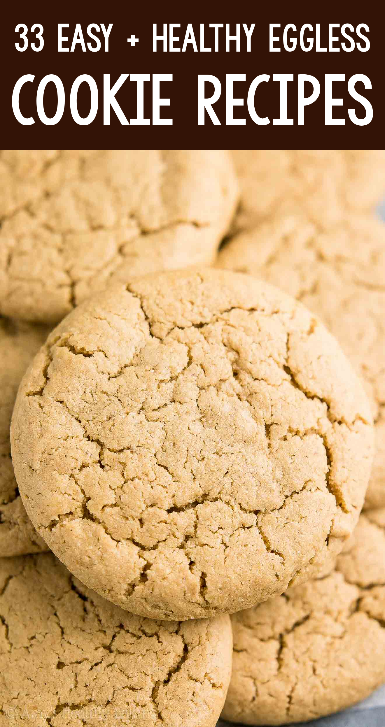 the BEST EVER healthy dairy-free eggless flourless vegan peanut butter cookies with no oil or butter