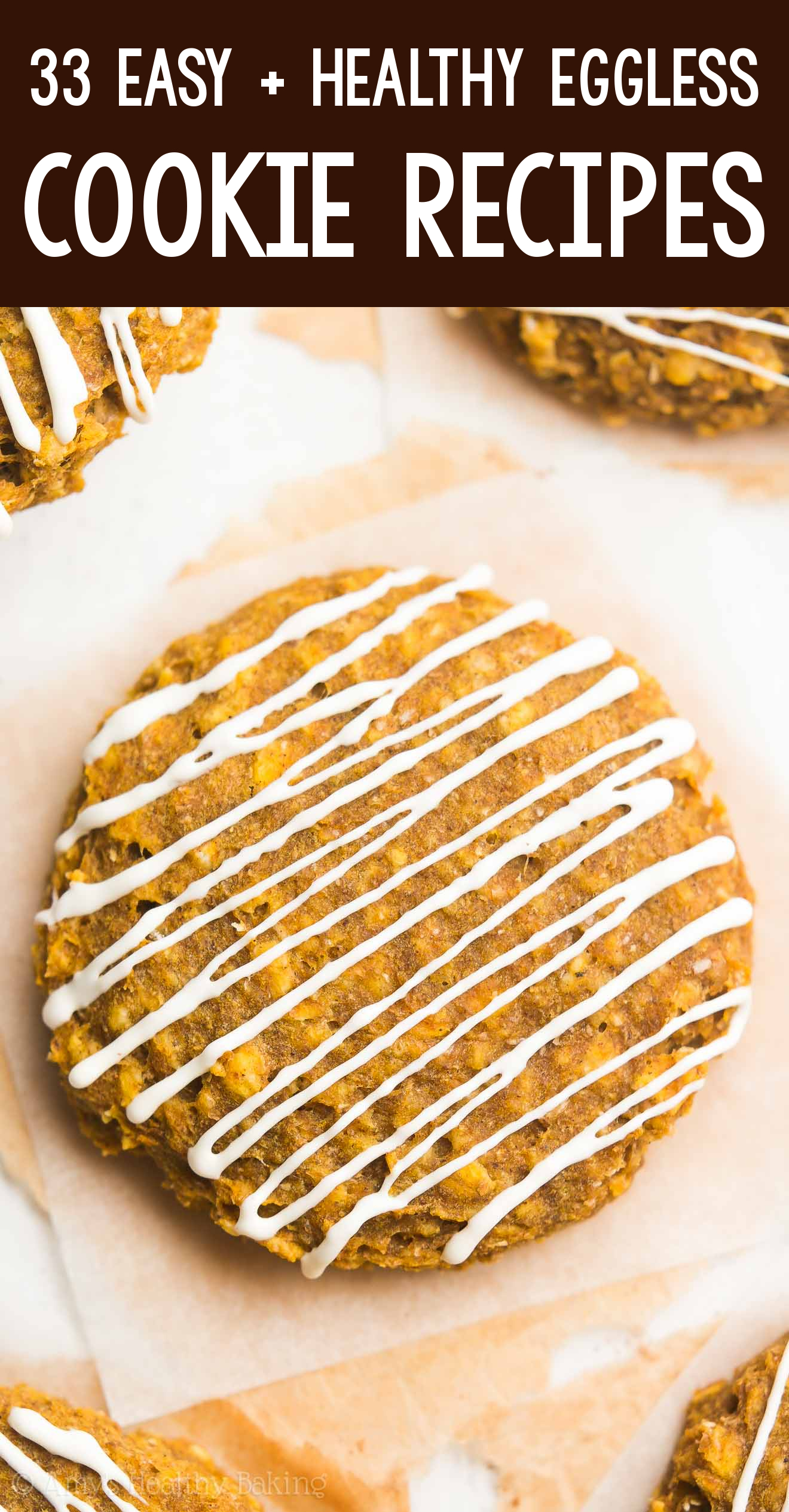 the BEST EVER soft chewy healthy eggless pumpkin cheesecake oatmeal cookies