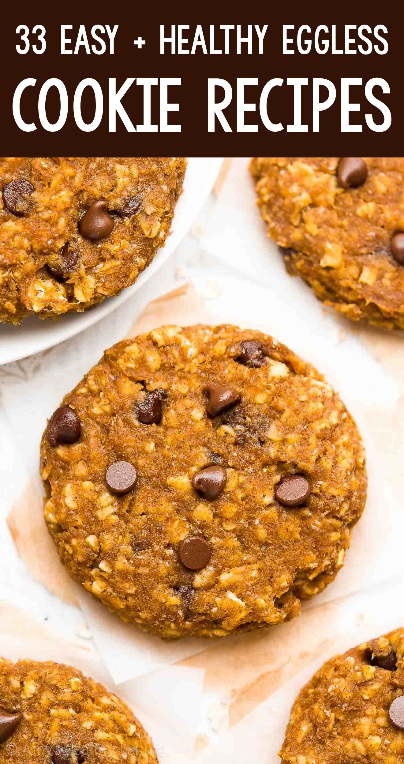the BEST EVER healthy dairy-free eggless vegan pumpkin chocolate chip oatmeal breakfast cookies