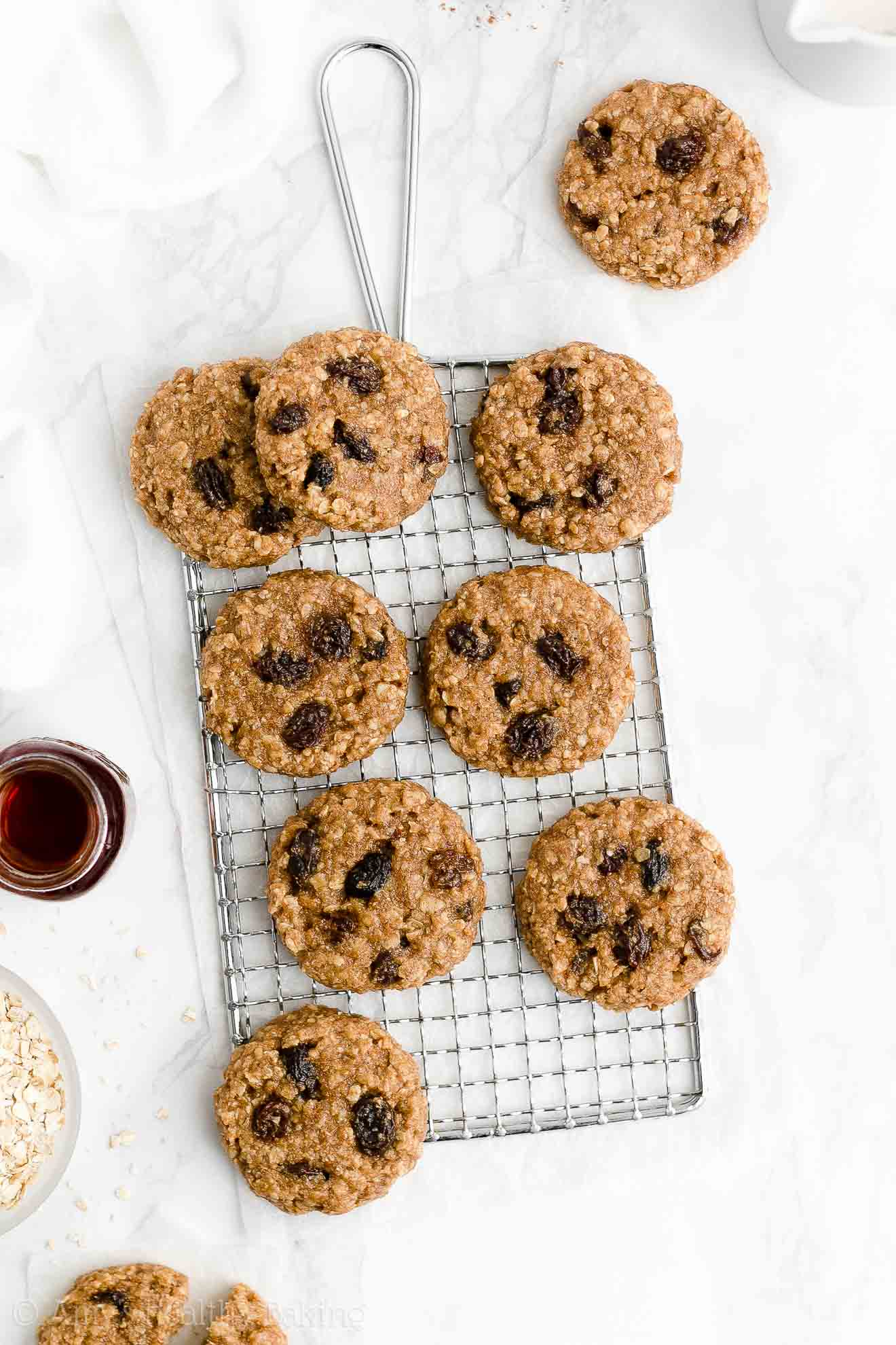 ULTIMATE Easy Healthy Weight Watchers Flourless Vegan Oatmeal Raisin Cookies