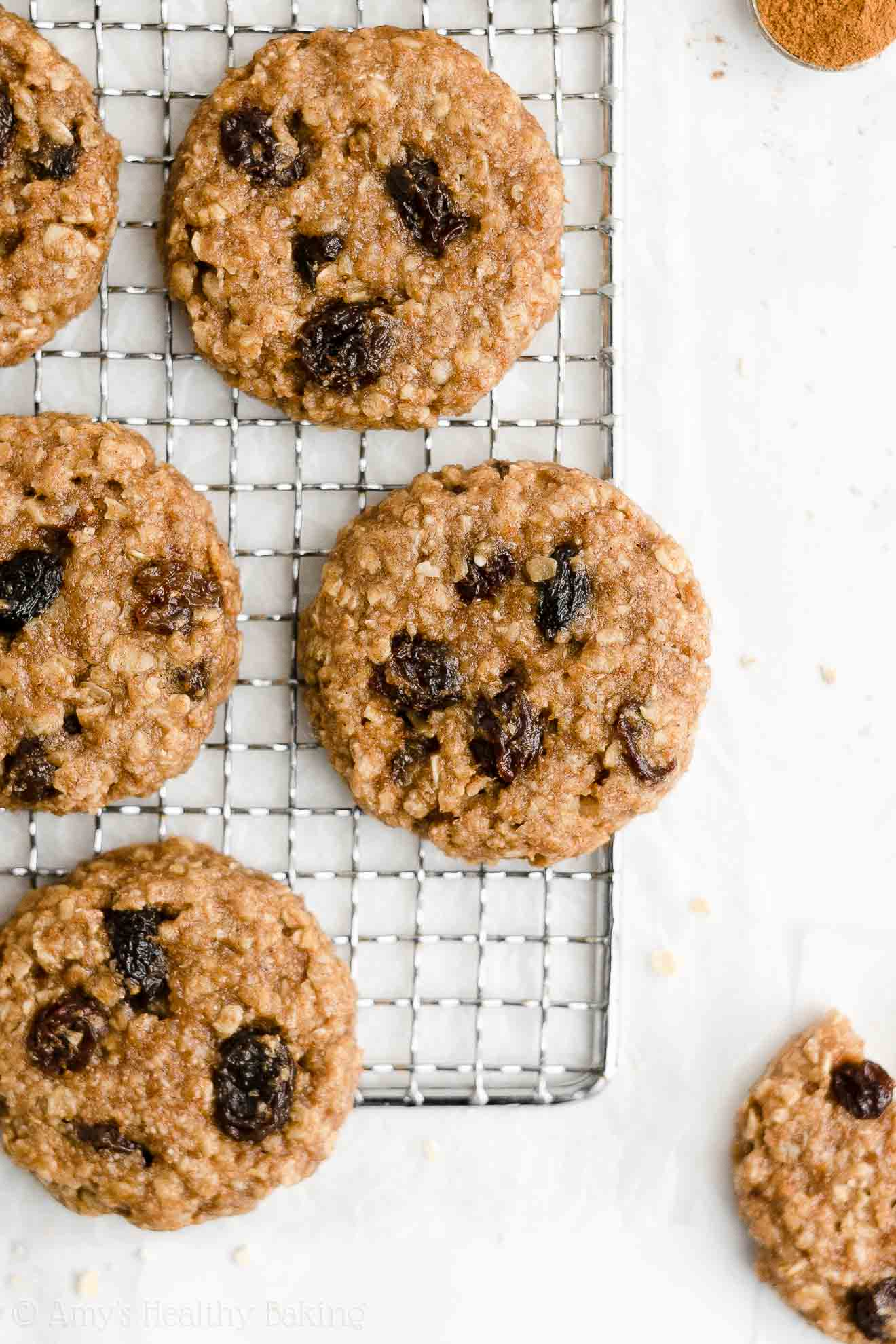 Best Ever Easy Healthy Vegan Gluten Free Dairy Free Oatmeal Raisin Cookies